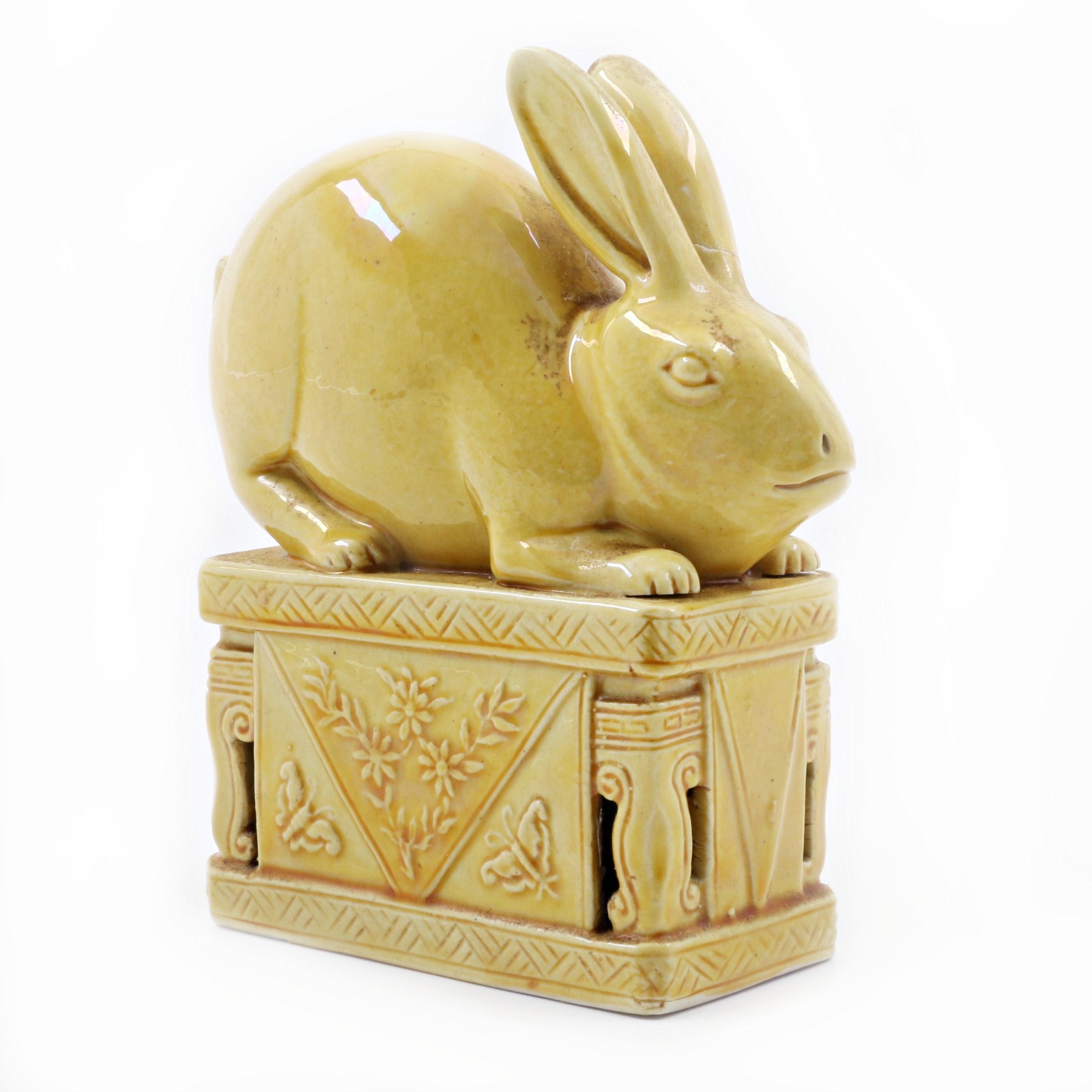 Chinese Yellow Glazed Rabbit