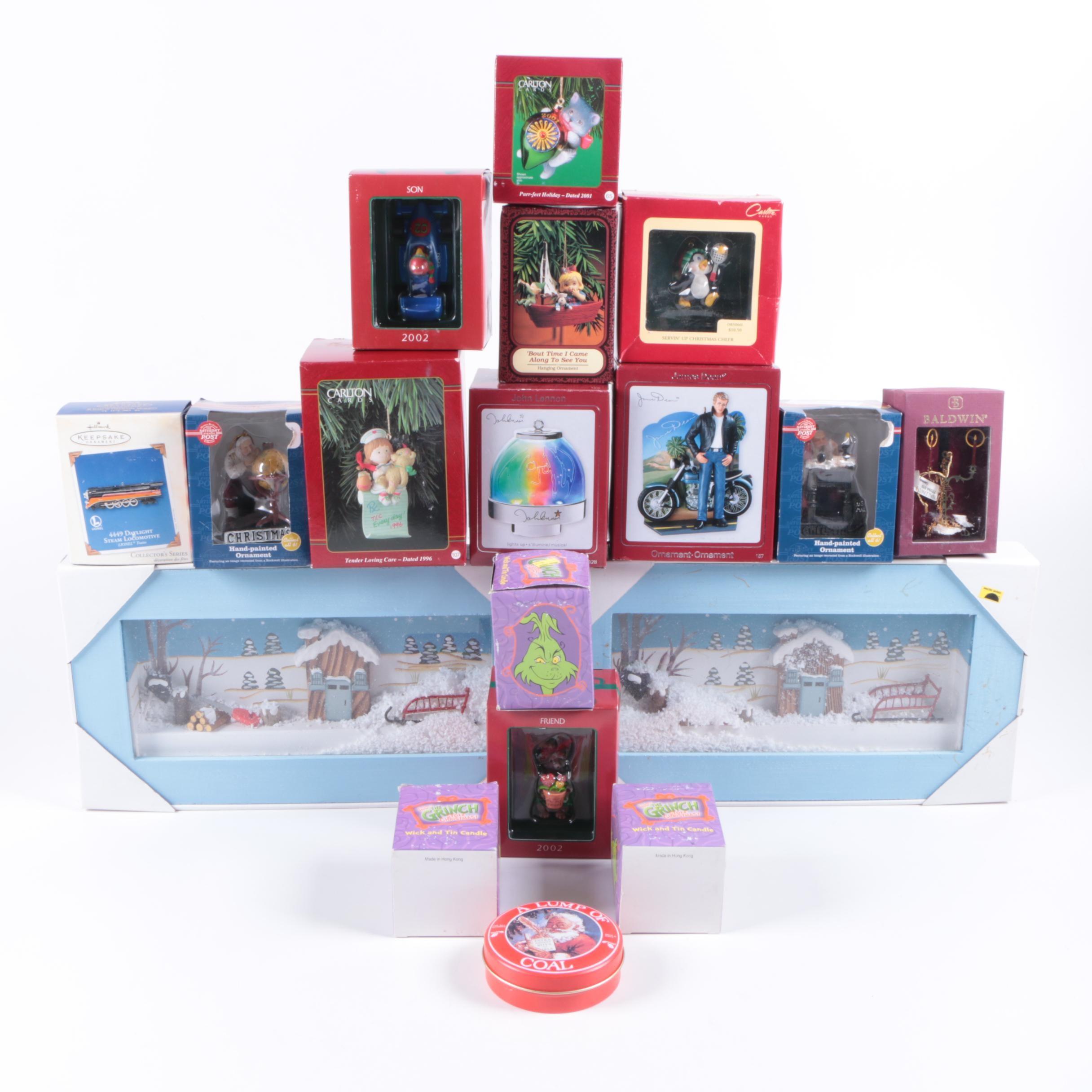 Christmass Ornaments including Hallmark