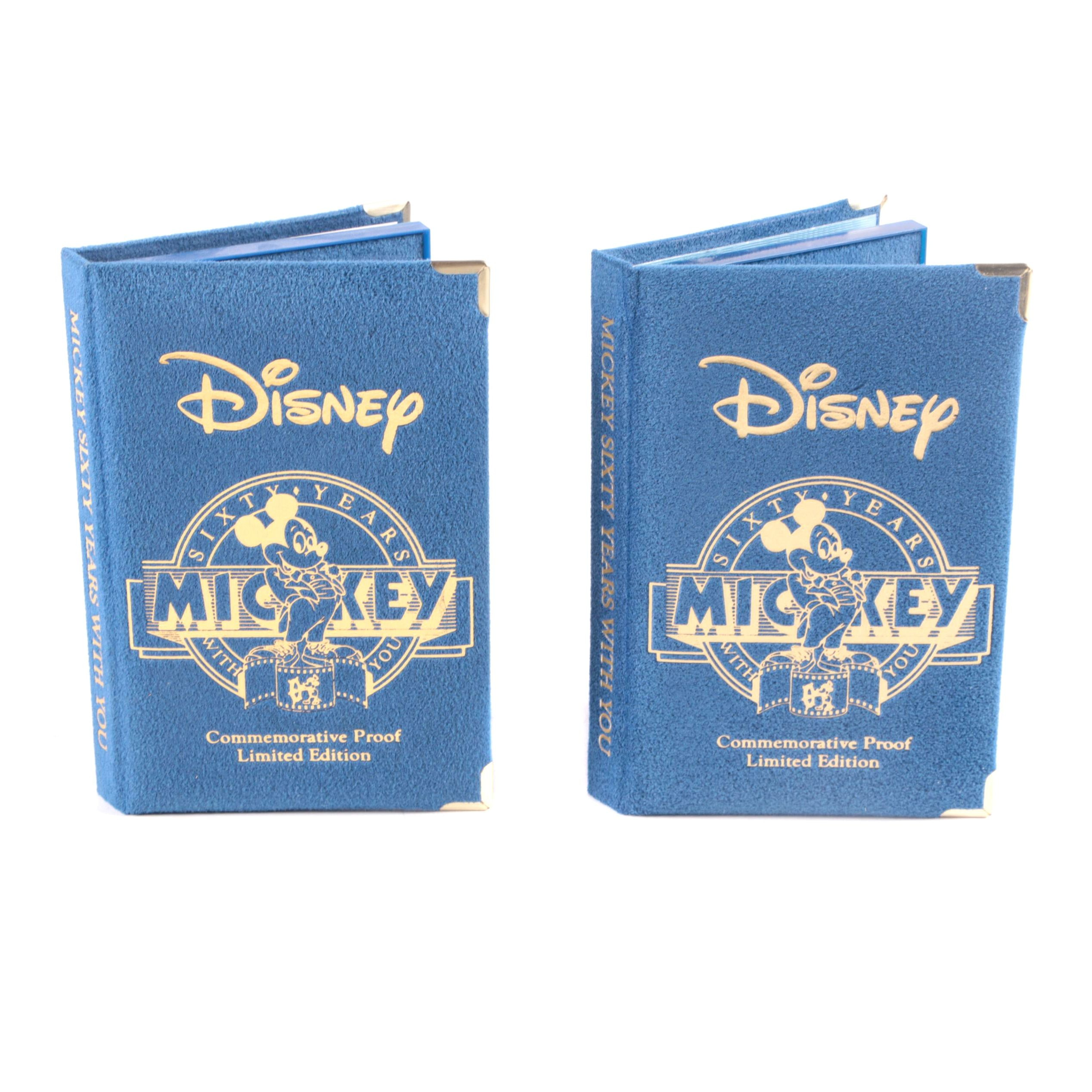 "1988 Disney ""Sixty Years With You"" Commemorative Cases with Books"