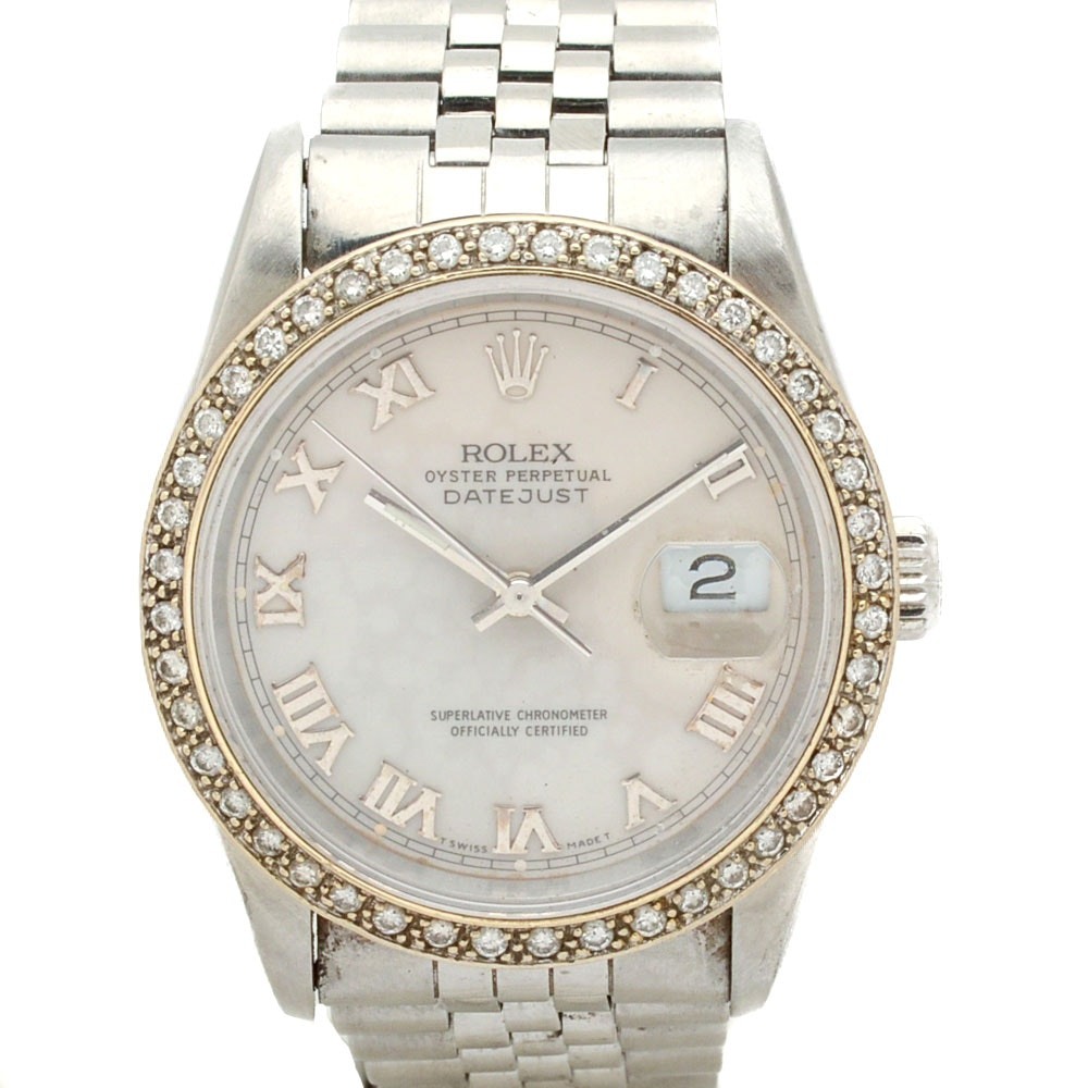Rolex  Oyster Perpetual Datejust 1.00 CTW Diamond Wristwatch