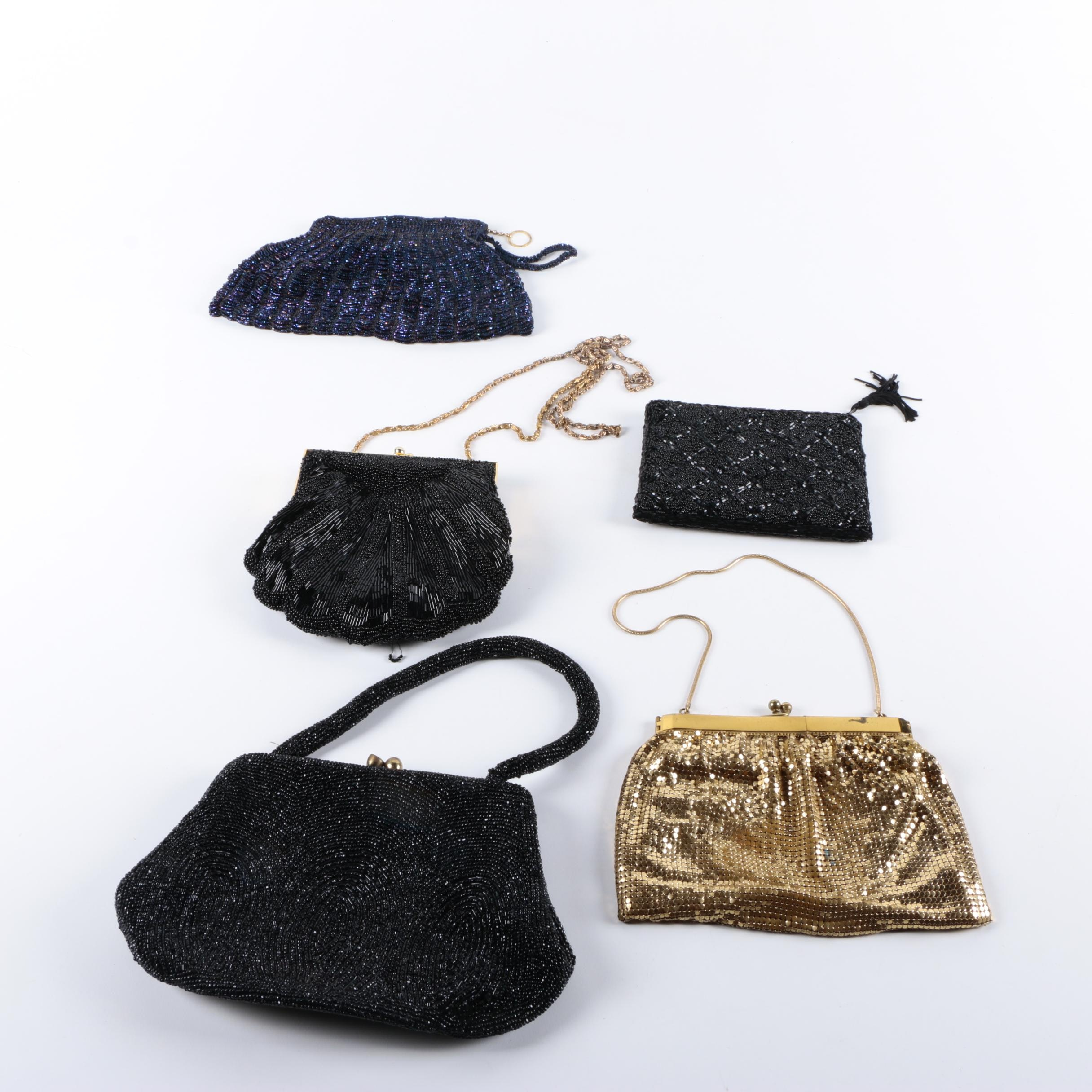Collection of Vintage Beaded Evening Bags and Pouch