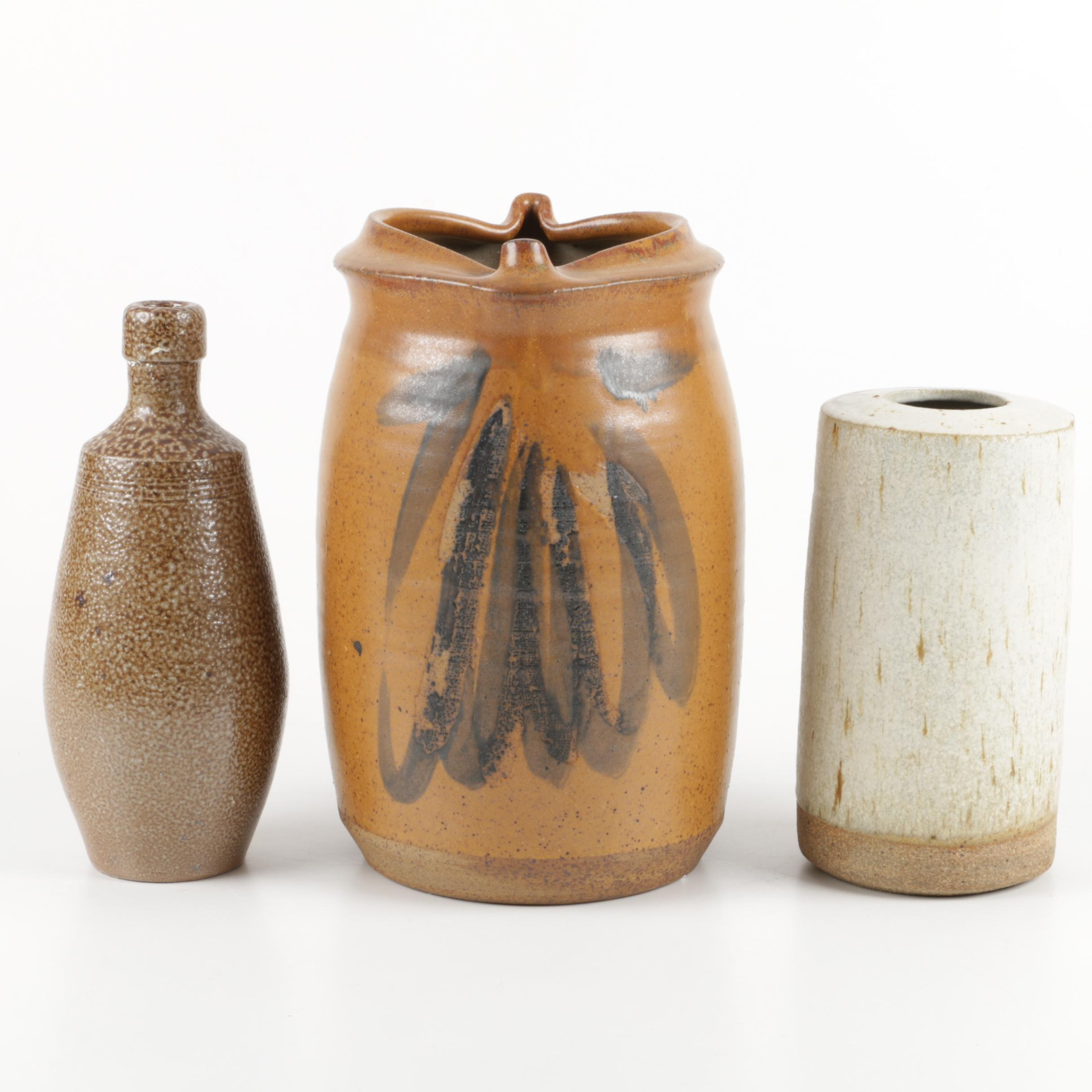 Nick Prokus Stoneware Vase and Other Ceramic Vessels