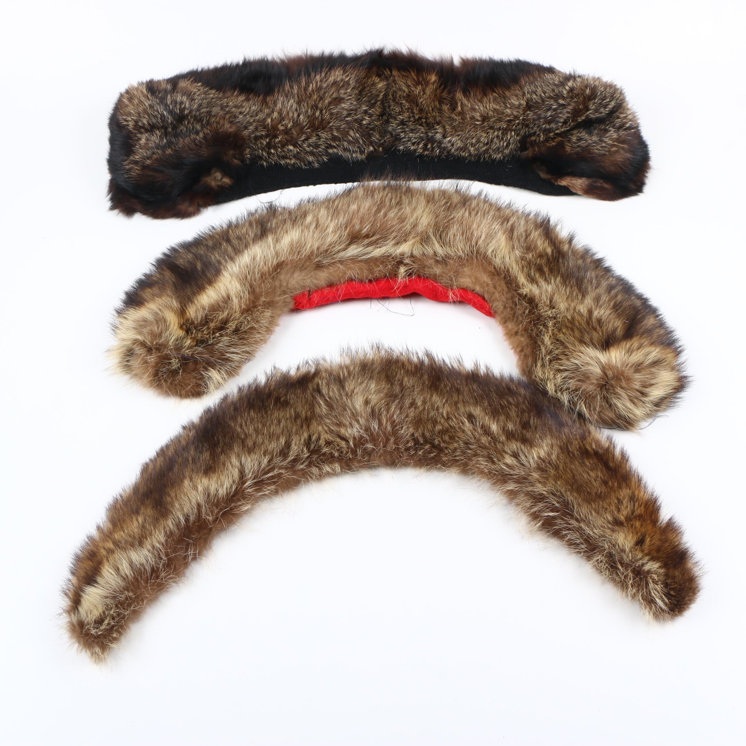 Racoon and Tanuki Fur Collars