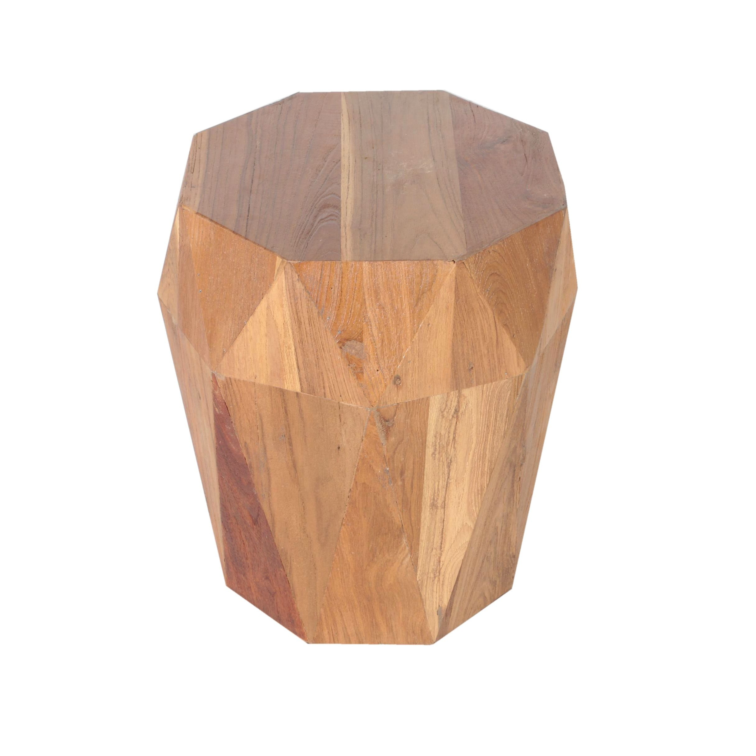 Faceted Wooden Occasional Table