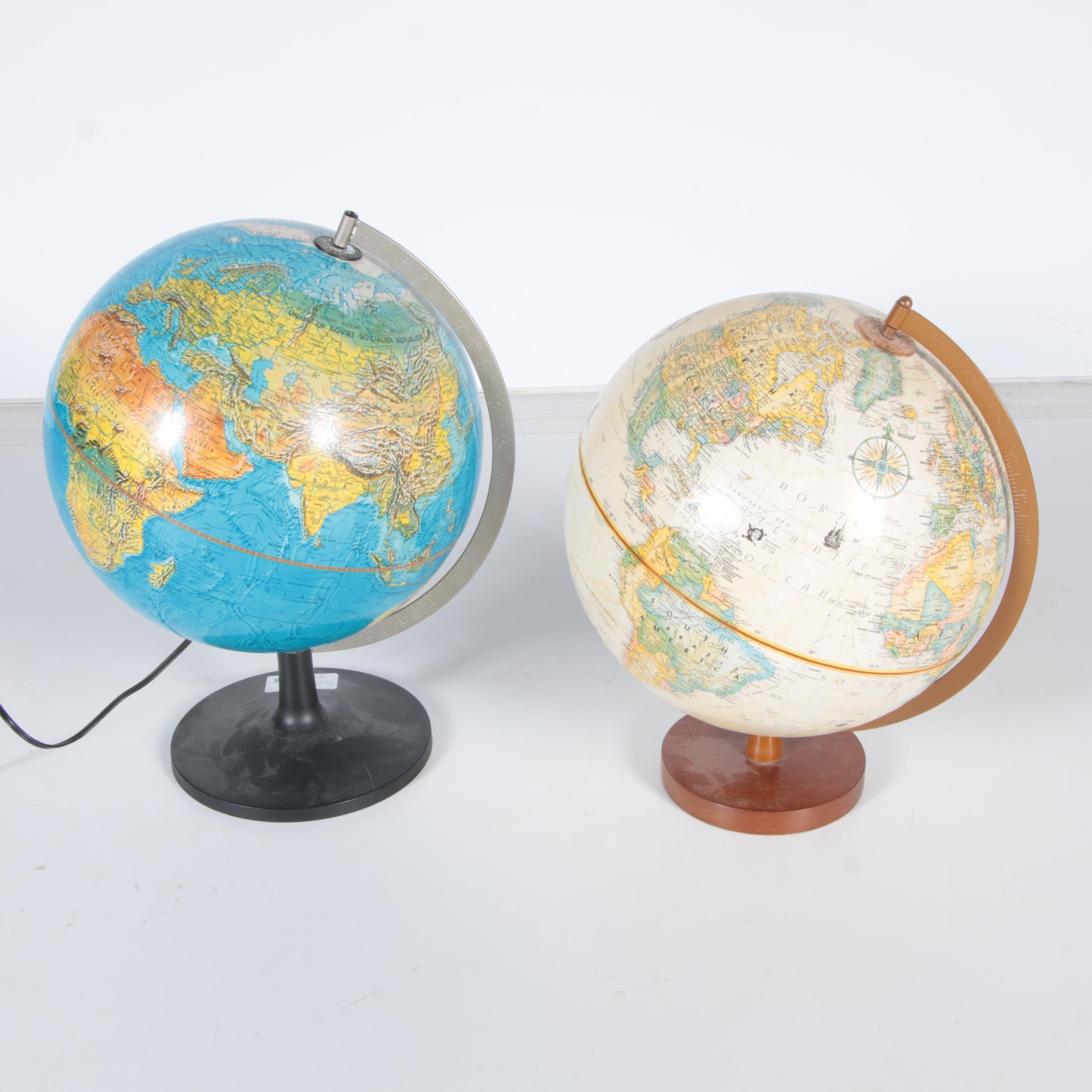 Pair of Desktop Globes