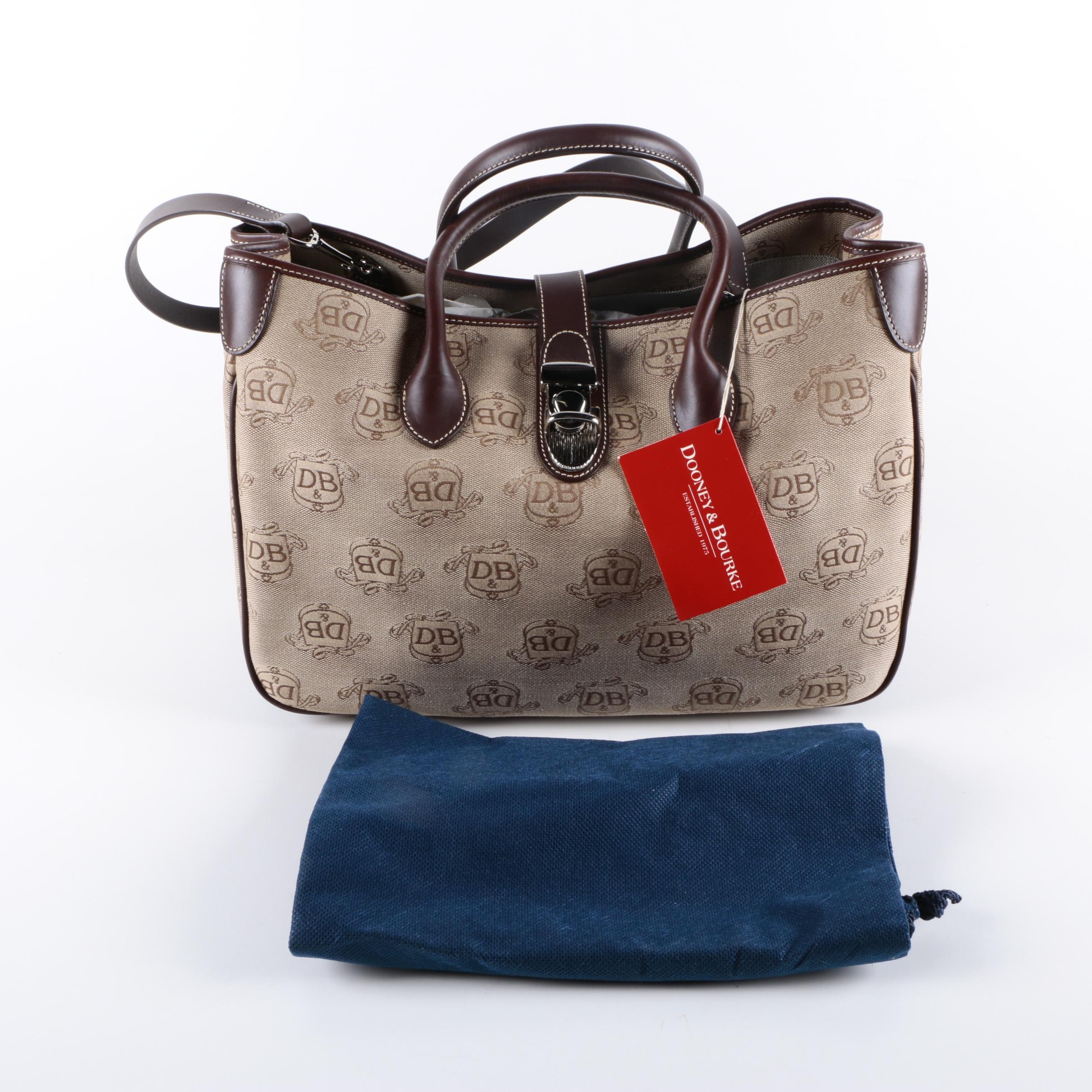 Dooney & Bourke Signature Canvas and Leather Tote