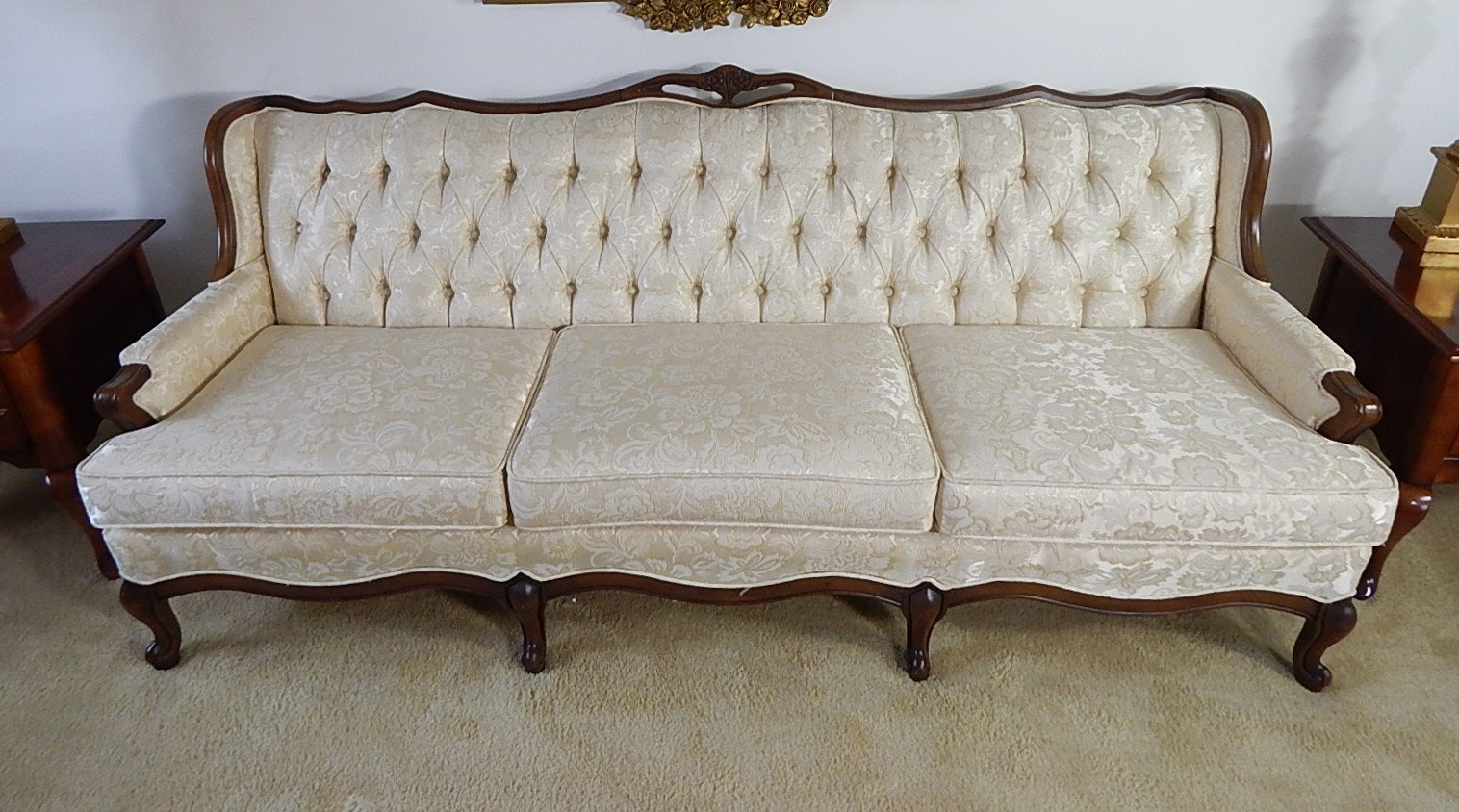 Victorian Floral Sofa : settees and chaises - Sectionals, Sofas & Couches