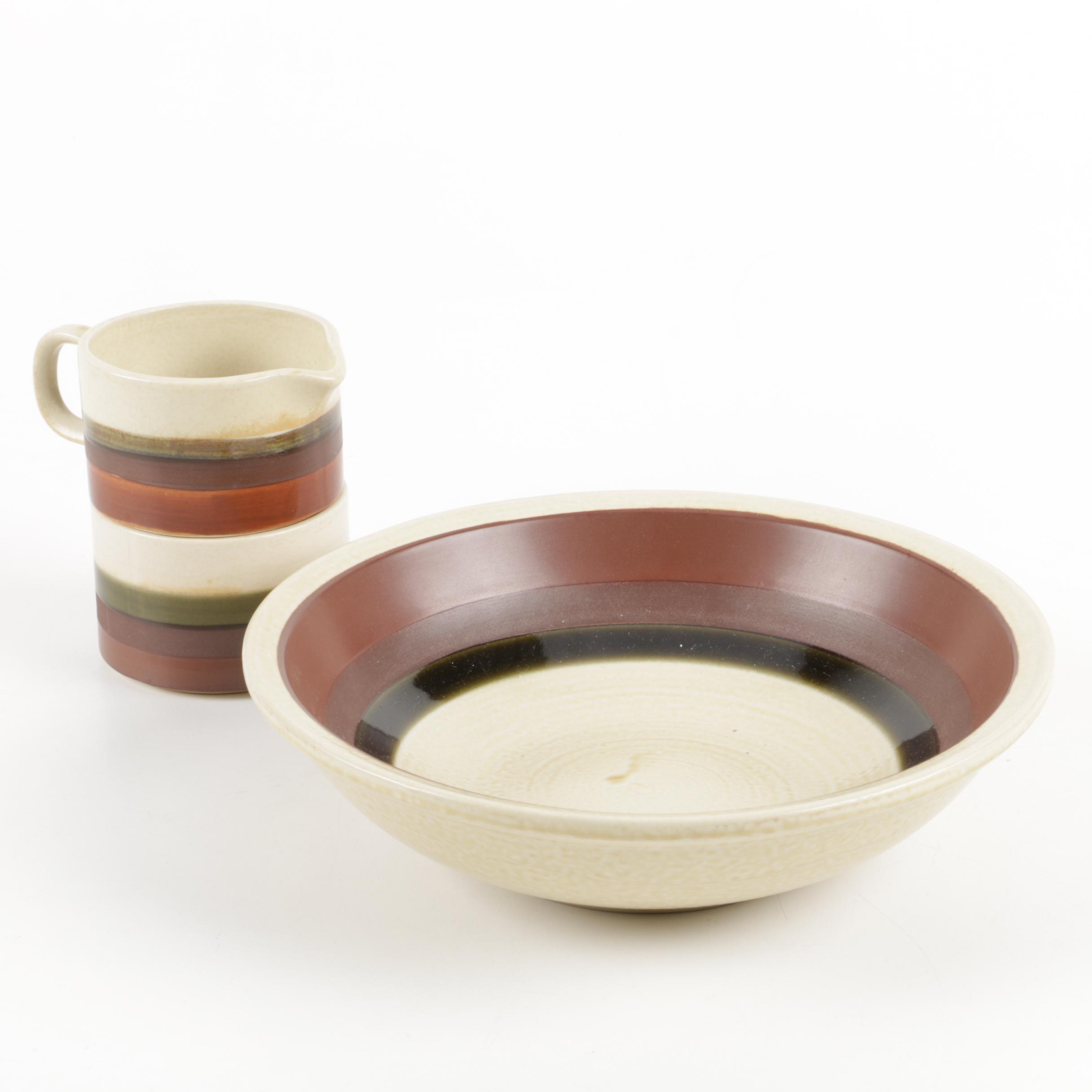 Vintage Japanese Stoneware Serving Pieces