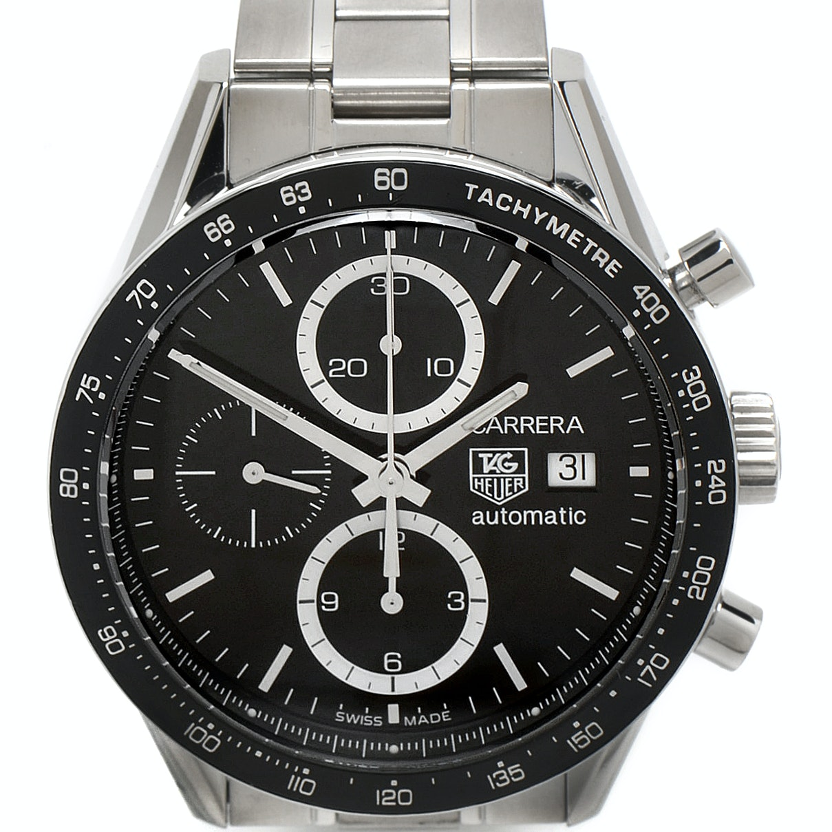 TAG Heuer Carrera Automatic Chronograph 43mm Stainless Steel Wristwatch