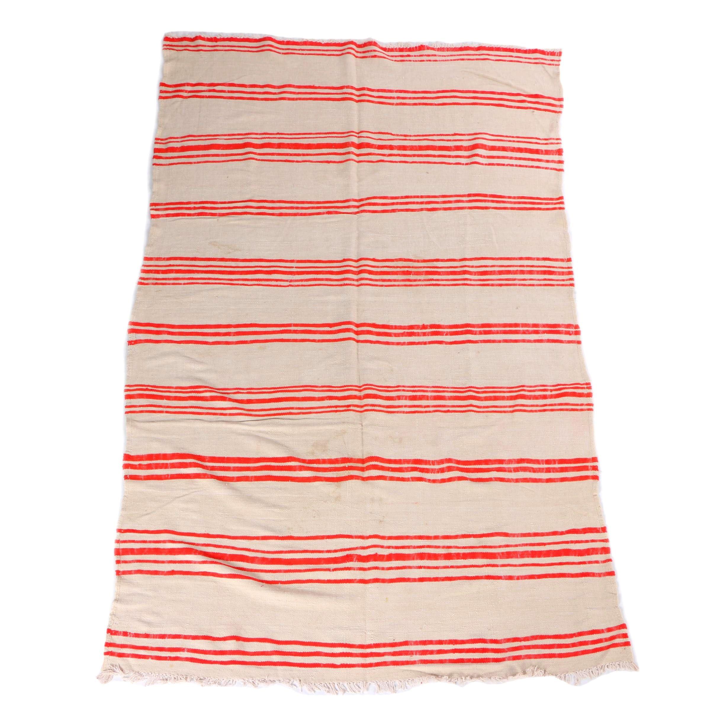 Handwoven Blue Ocean Traders Berber Wool Rug/Blanket
