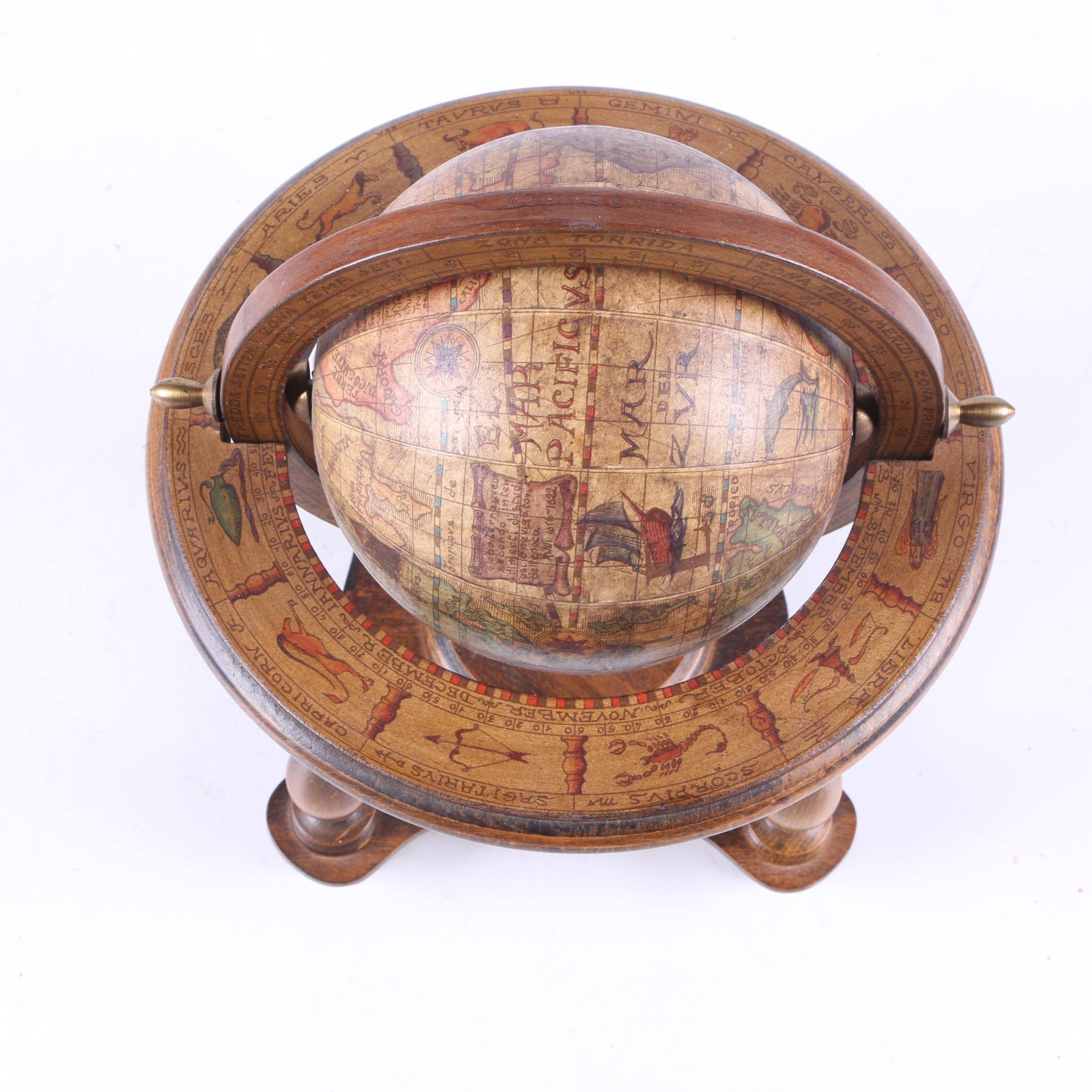 "Decorative Wood ""Olde World Globe"""