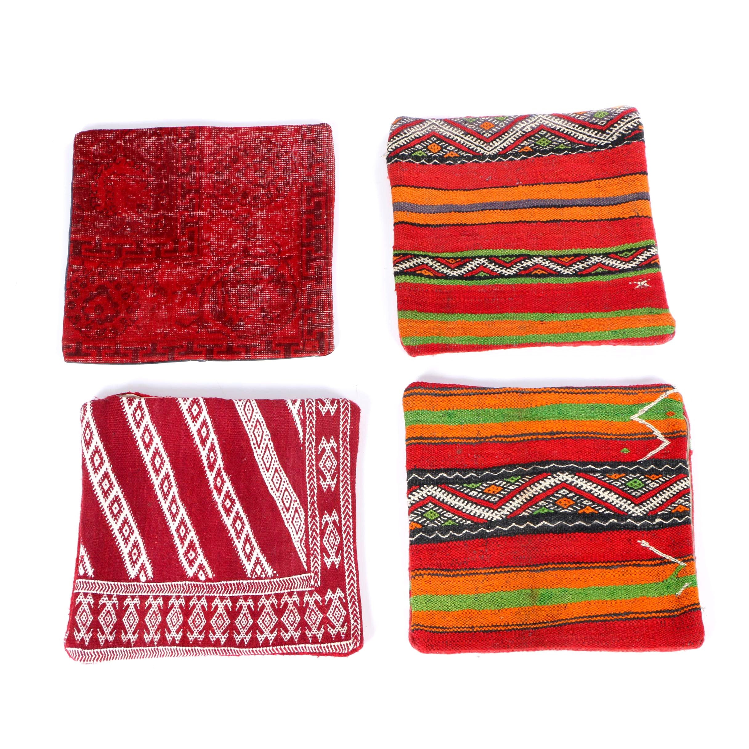 Grouping of Omar Kilim and Turkish Carpet Pillow Covers