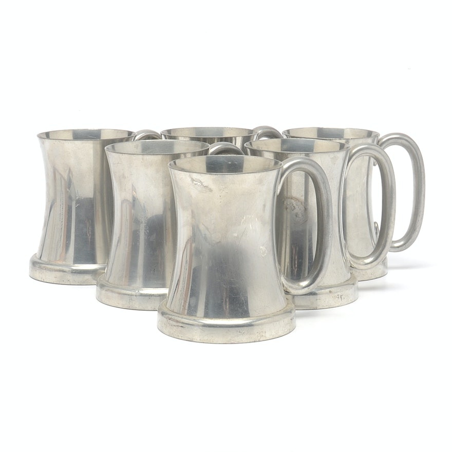 vintage abercrombie fitch pewter 34 pint tankards