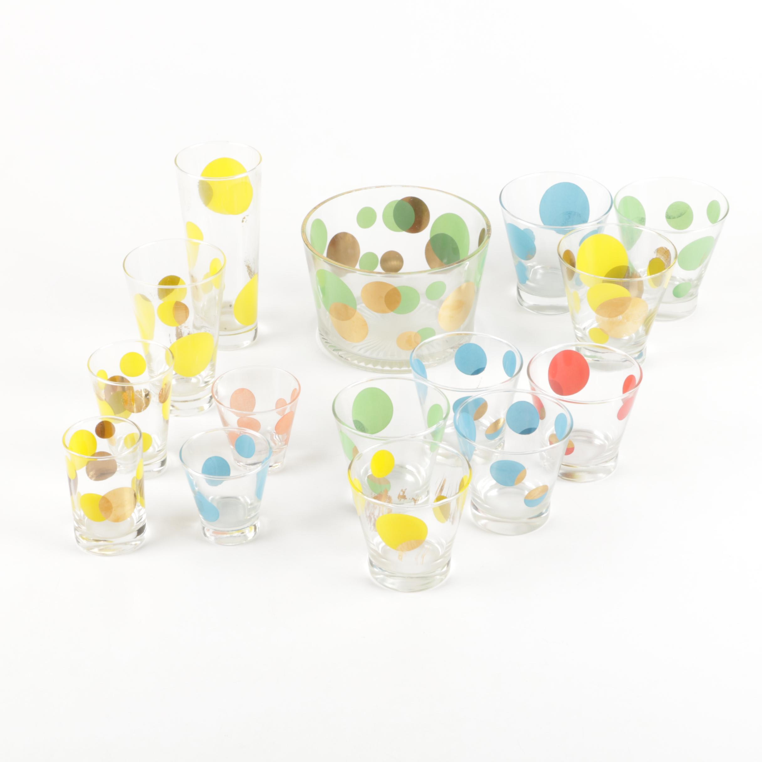 "Barrett Collins Russel Wright ""Eclipse"" Glassware"