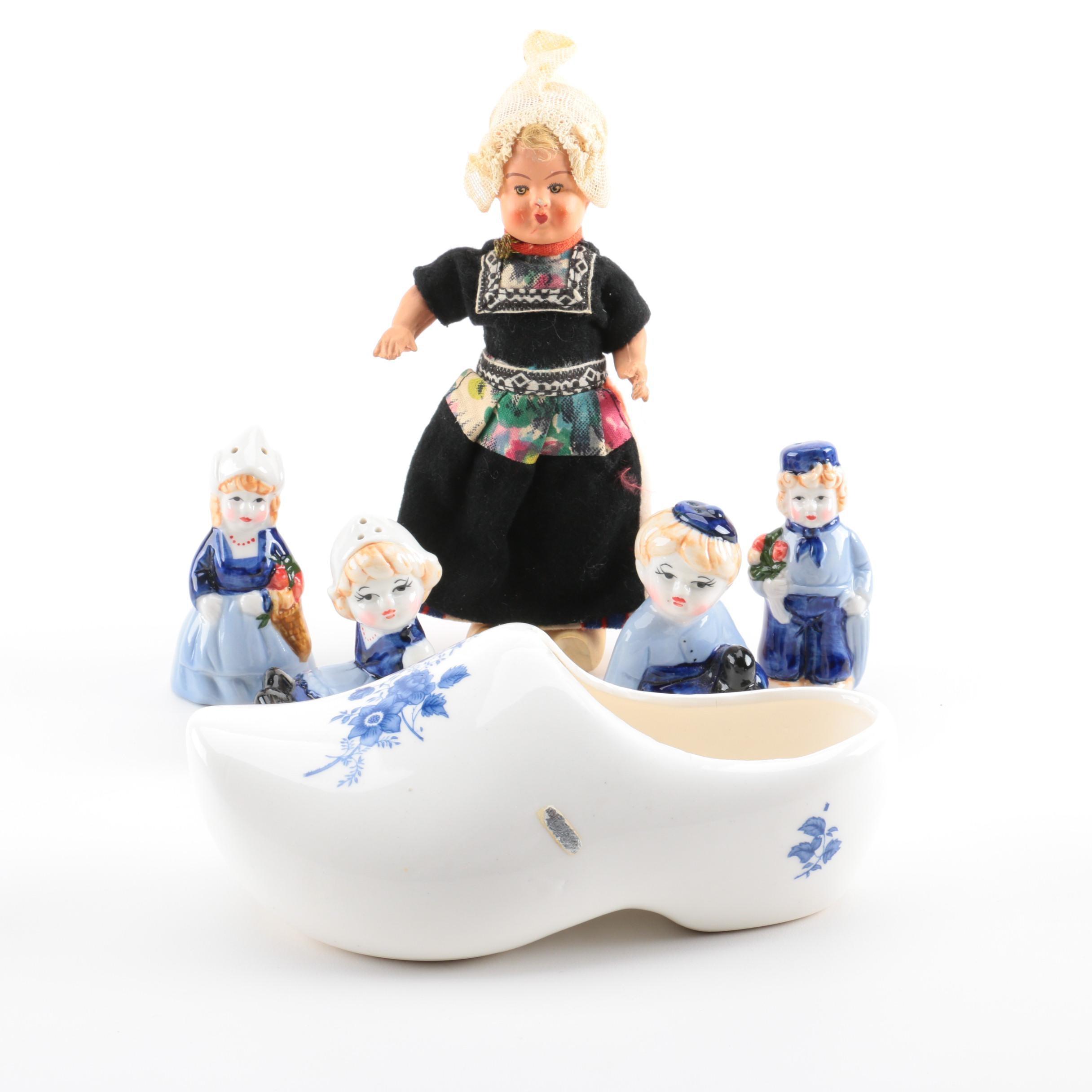 Dutch-Themed Ceramic Décor and Doll