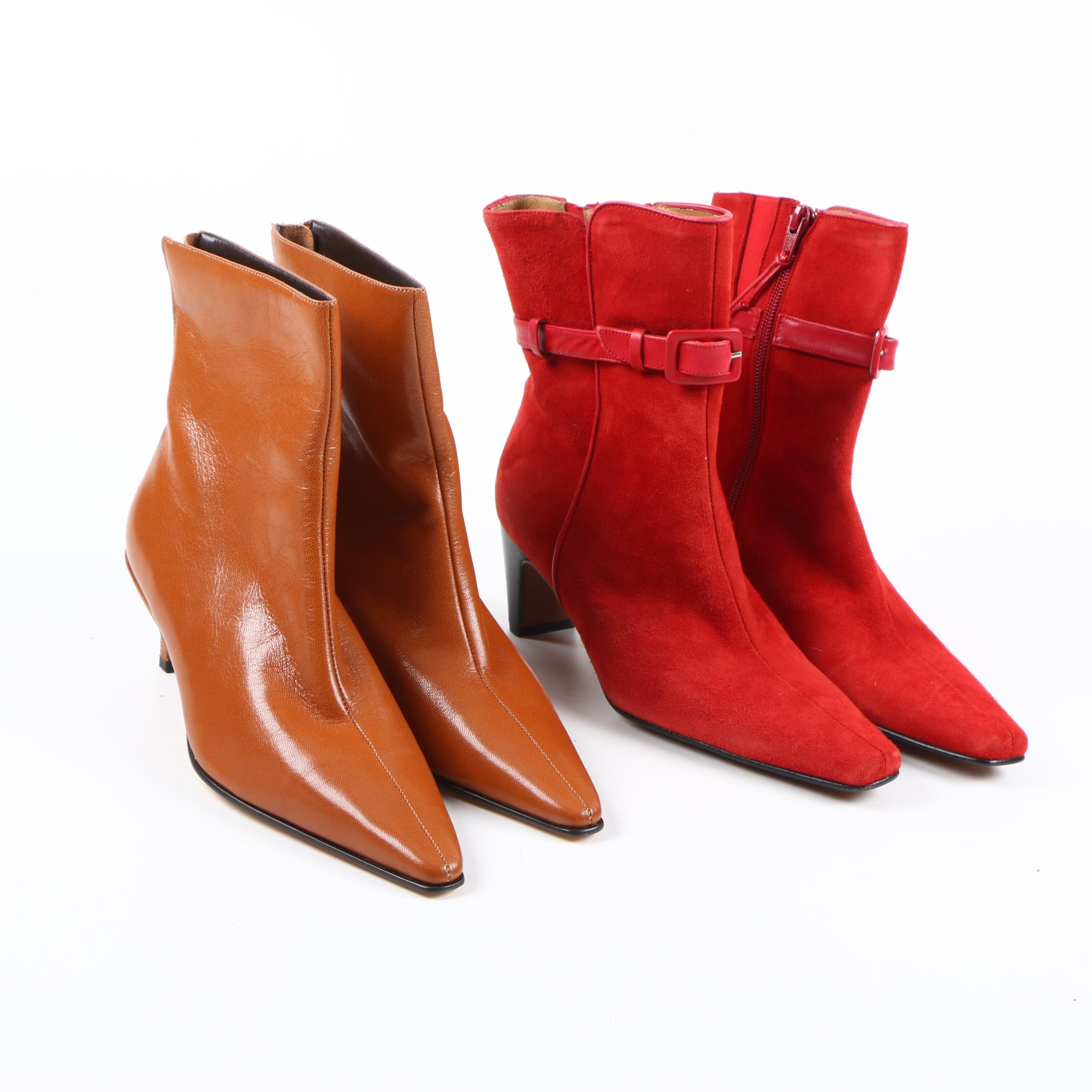 Two Pairs of Women's High Heeled Boots