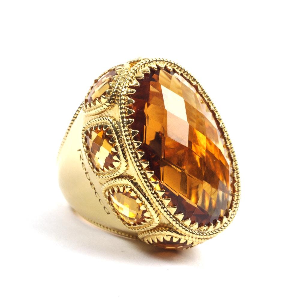Rebecca Italian Designer Oval Ring