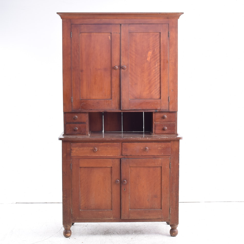 Antique Cherry Buffet and Hutch