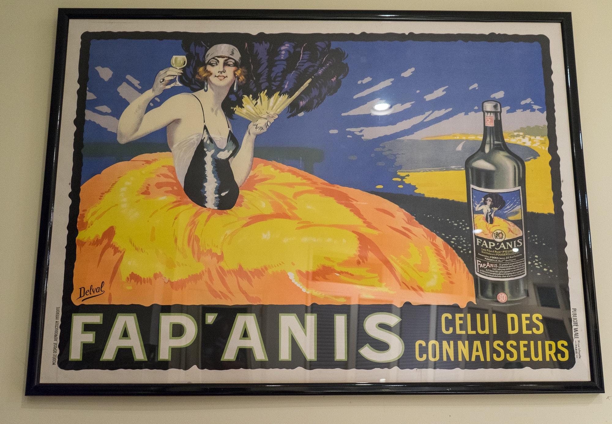 Circa 1920s Lithograph Poster for Fap'Anis Apéritif