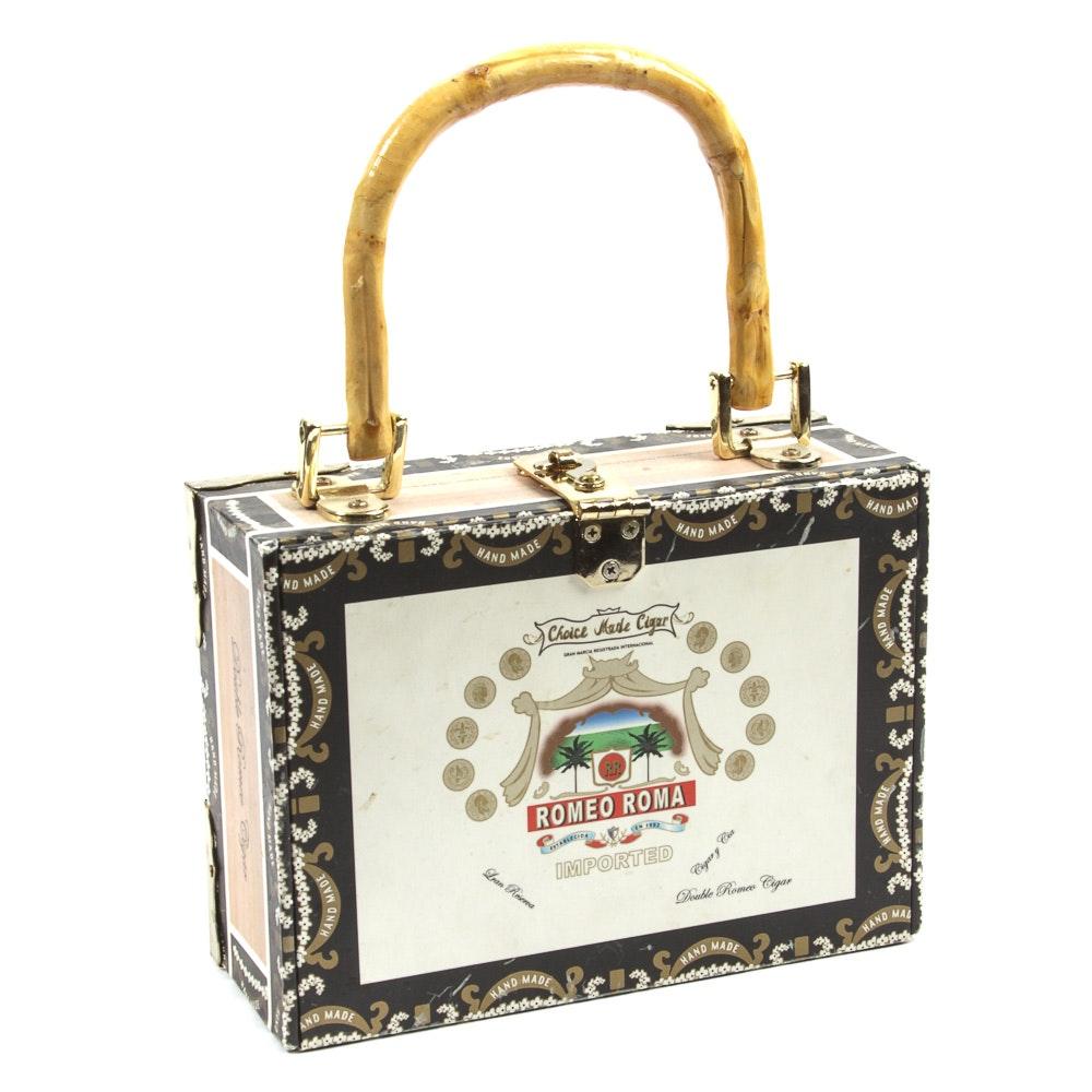 Cigar Box Purse with Bamboo Handles