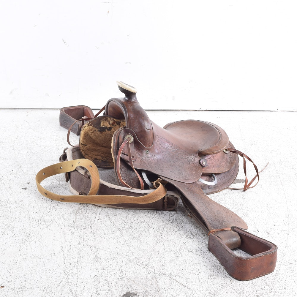 Leather Western Roping Saddle