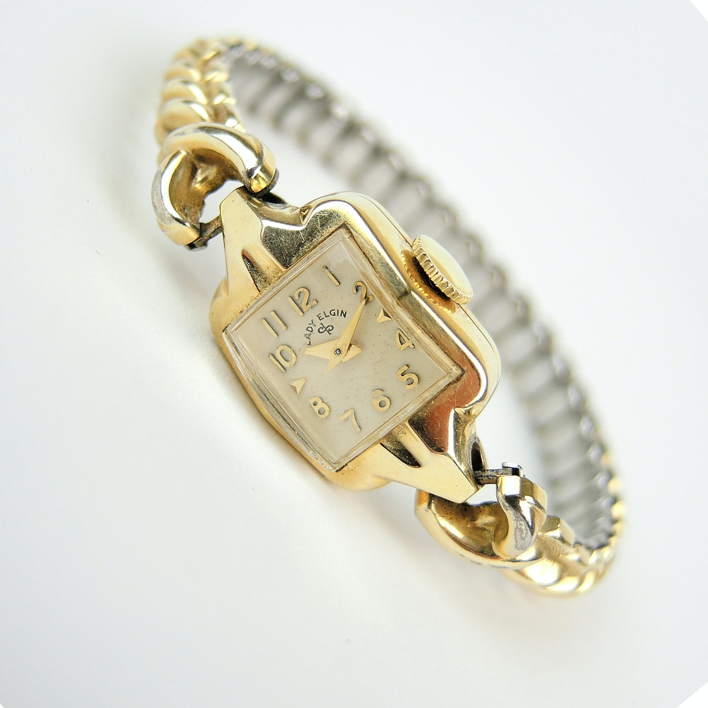 14K Gold Lady Elgin Stem Wind Wristwatch
