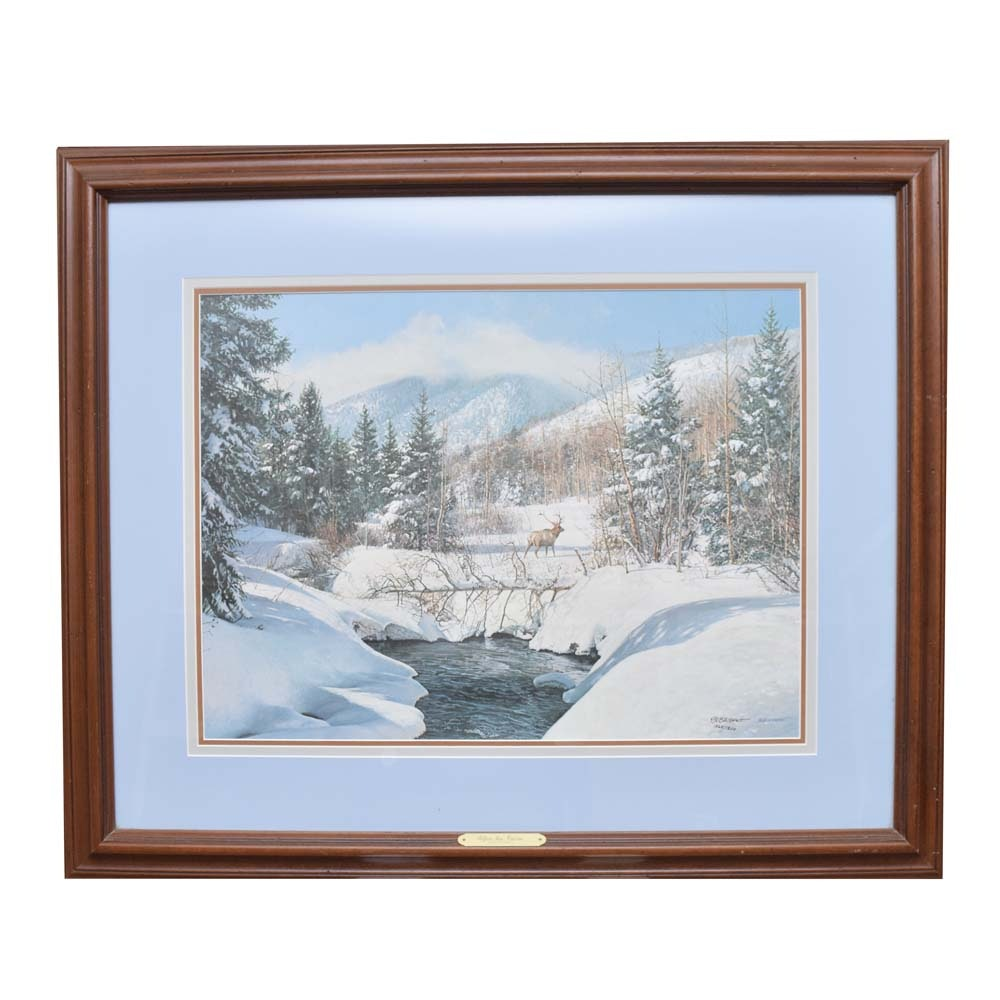 """Bob Wygant Signed Limited Edition Offset Lithograph """"After the Storm"""""""