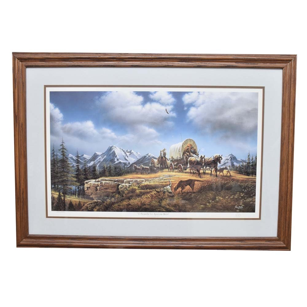 "Terry Redlin Limited Edition Offset Lithograph ""O Beautiful for Spacious Skies"""