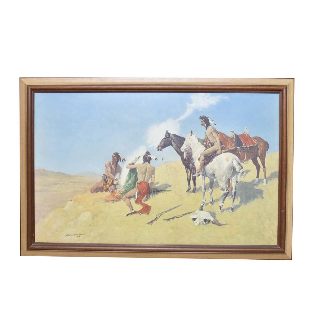 """After Frederic Remington Giclee """"Smoke Signal"""""""