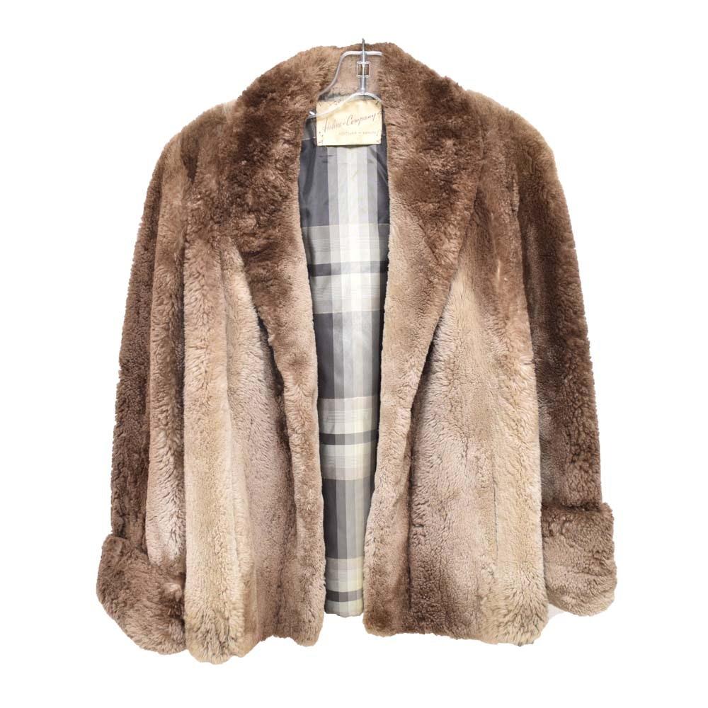 Vintage Hahne & Company Sheared Beaver Coat