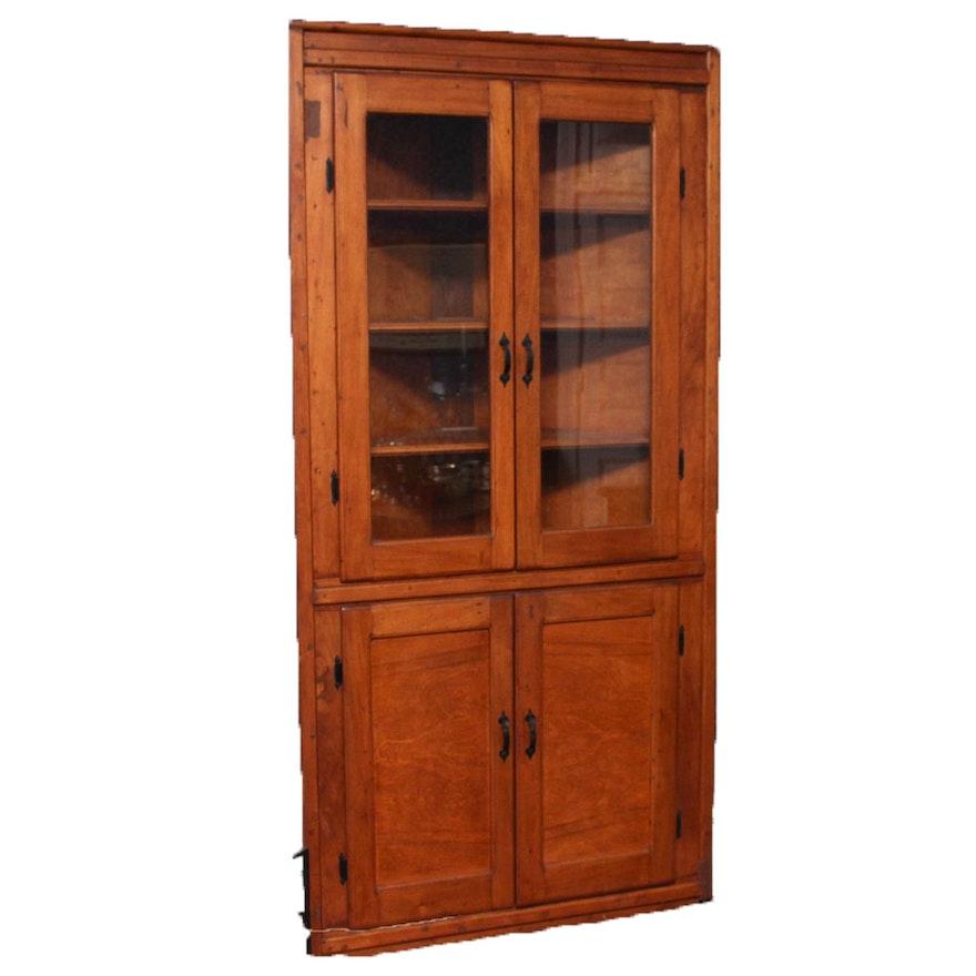 Antique Walnut Corner Cabinet ... - Antique Walnut Corner Cabinet : EBTH