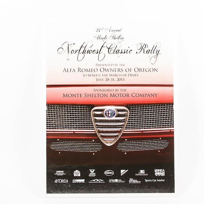 Alfa Romeo Monte Shelton Car Rally Poster