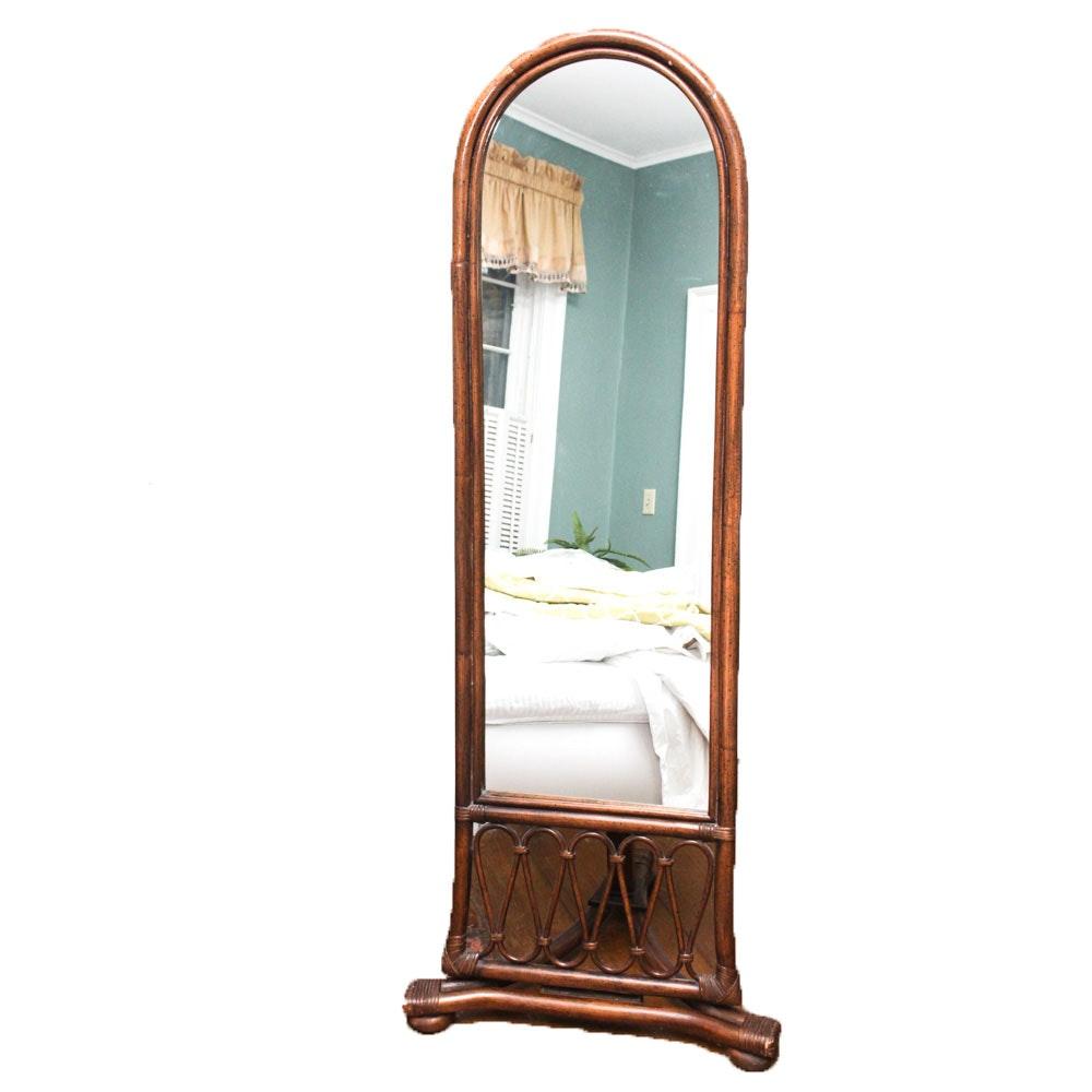 Bamboo Frame Floor Mirror