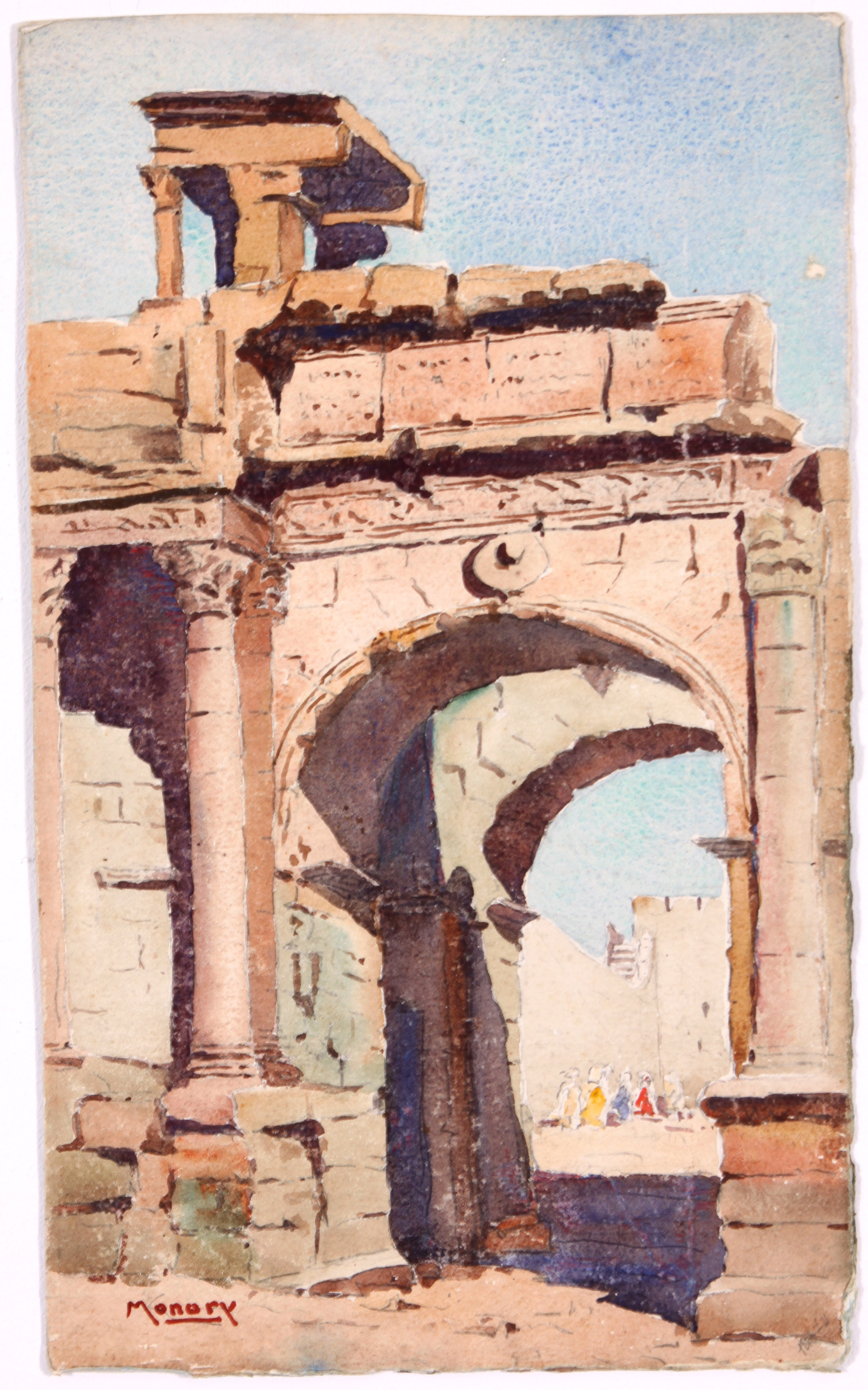 Original French Watercolor by Raoul Monory