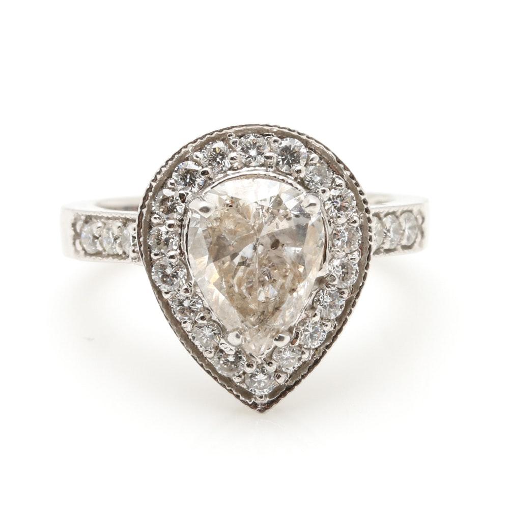 14K White Gold 2.93 CTW Diamond Ring