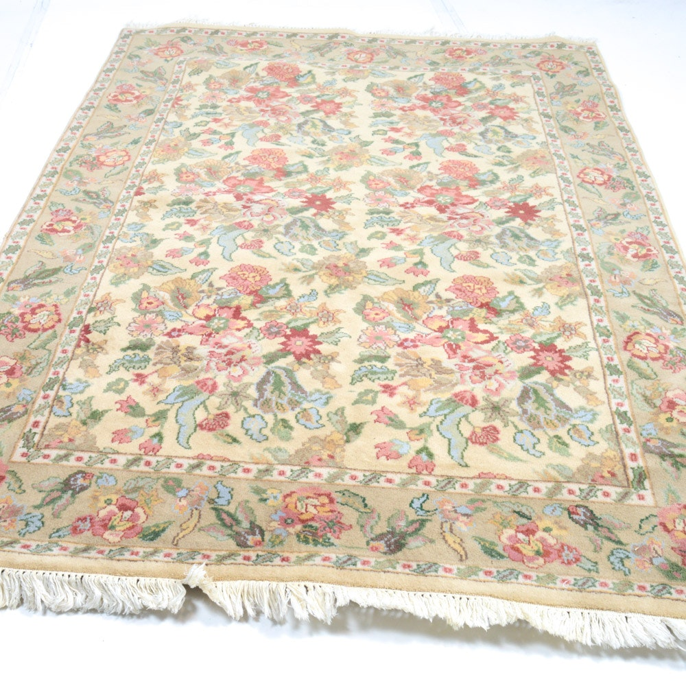 Vintage Hand-Knotted Indo-Persian Mahal Room Size Rug