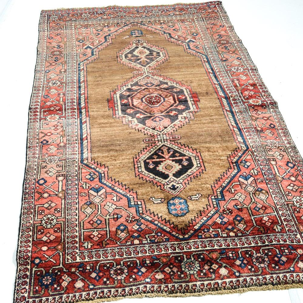 Hand-Knotted Persian Karaja Heriz Area Rug