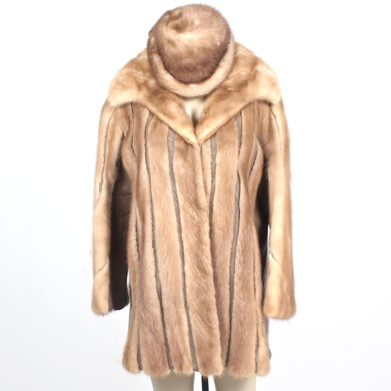 Lazarus Mink and Leather Coat and Hat