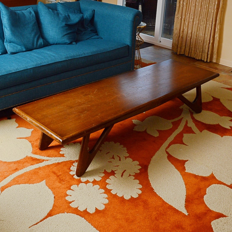 Lane Pearsall Style Mid Century Modern Coffee Table: Mid Century Modern Adrian Pearsall Surfboard Coffee Table