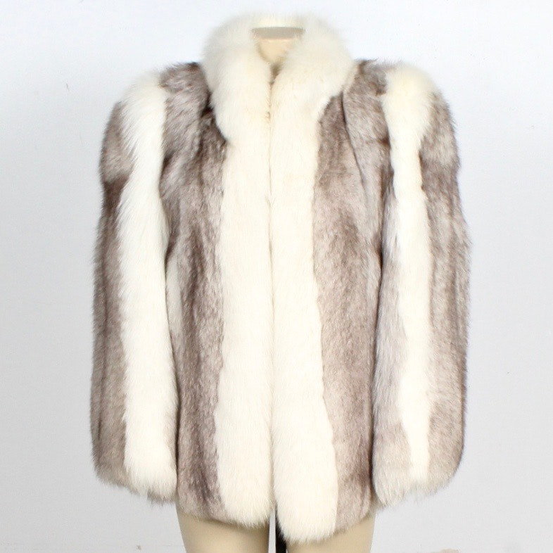 Not Just Mink Blue Fox Fur Coat