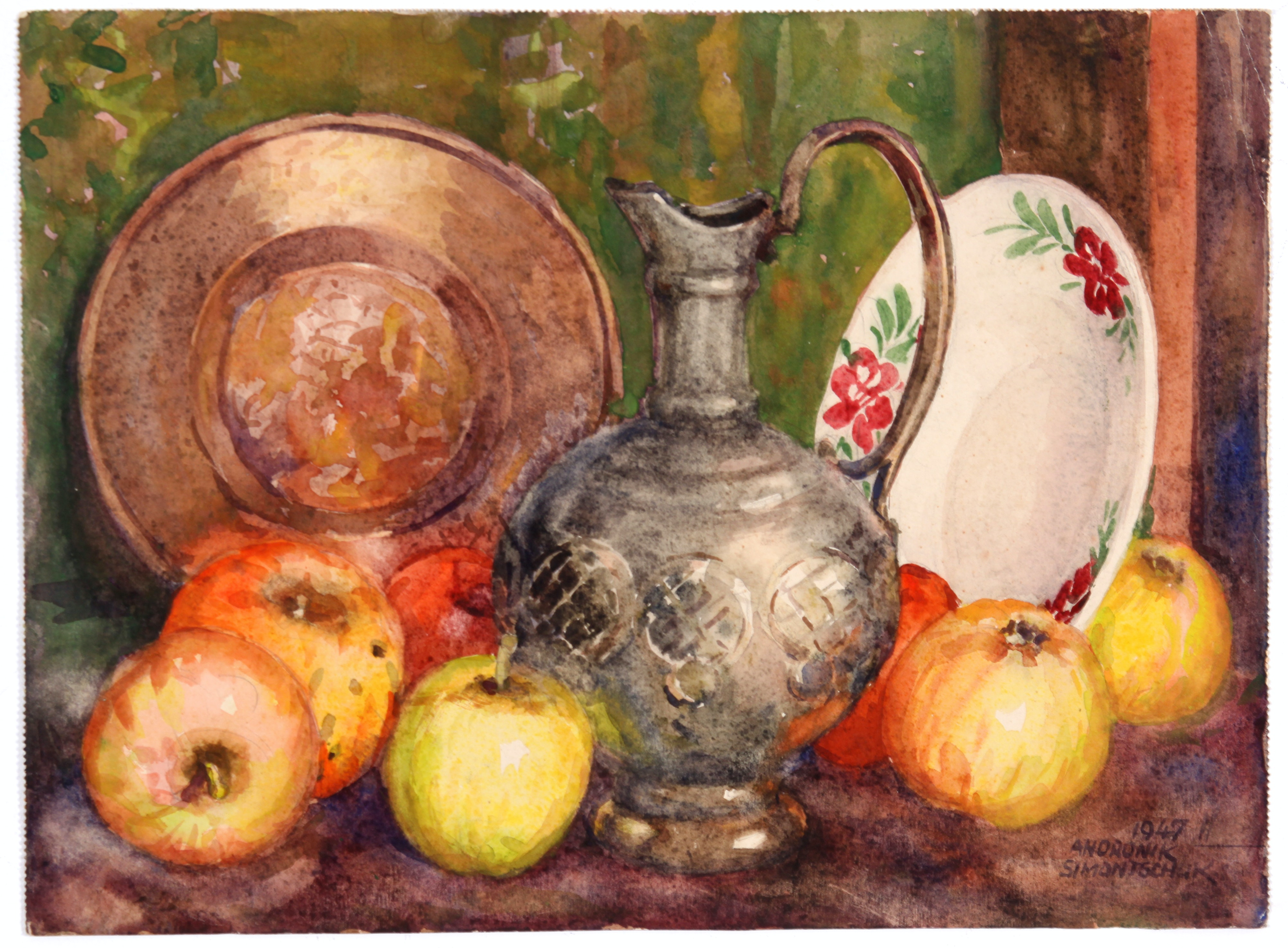 Original Still Life in Watercolor by Andronik Simontschuk