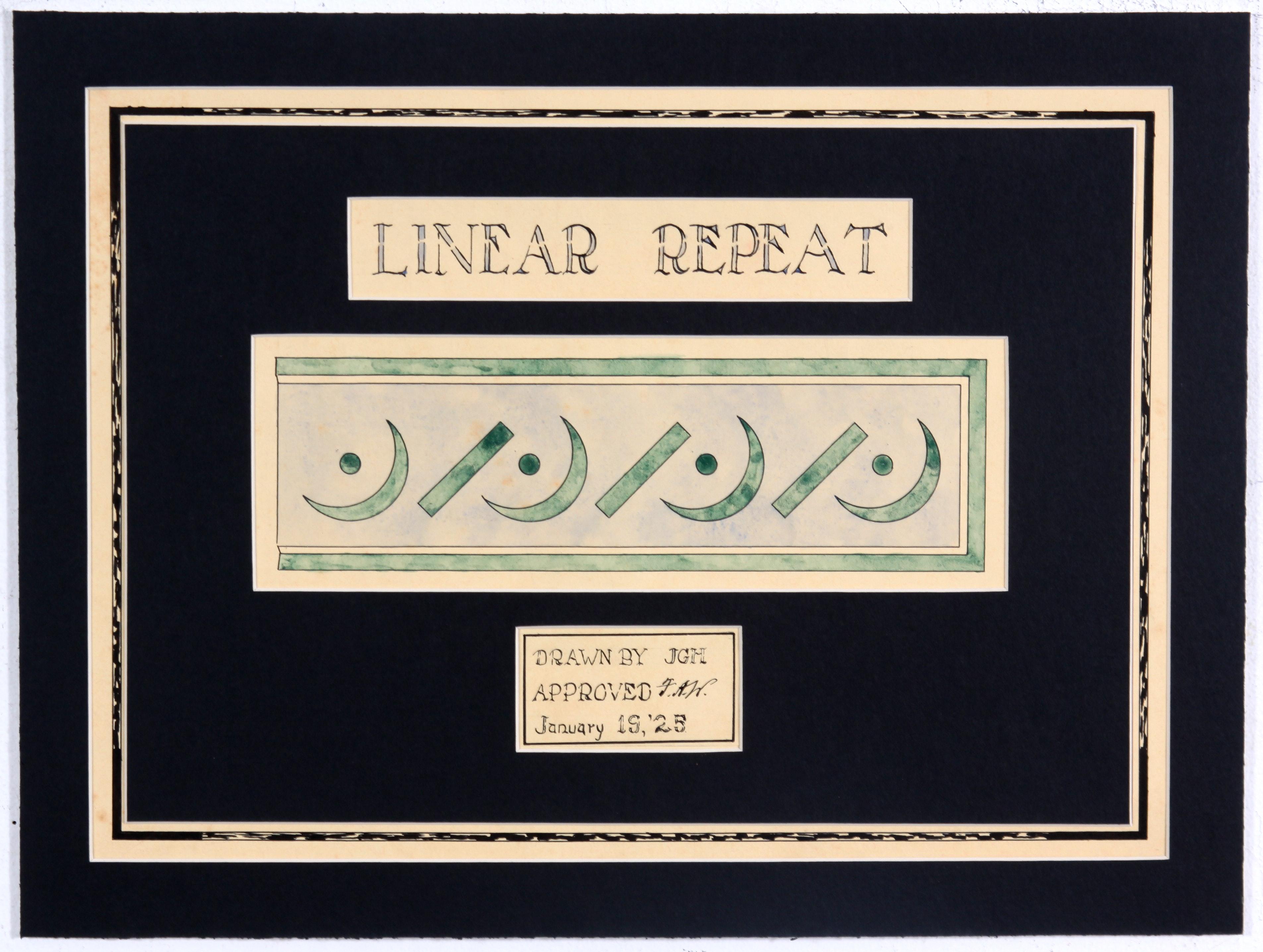 Original 1920s Watercolor Architectural Detail Study