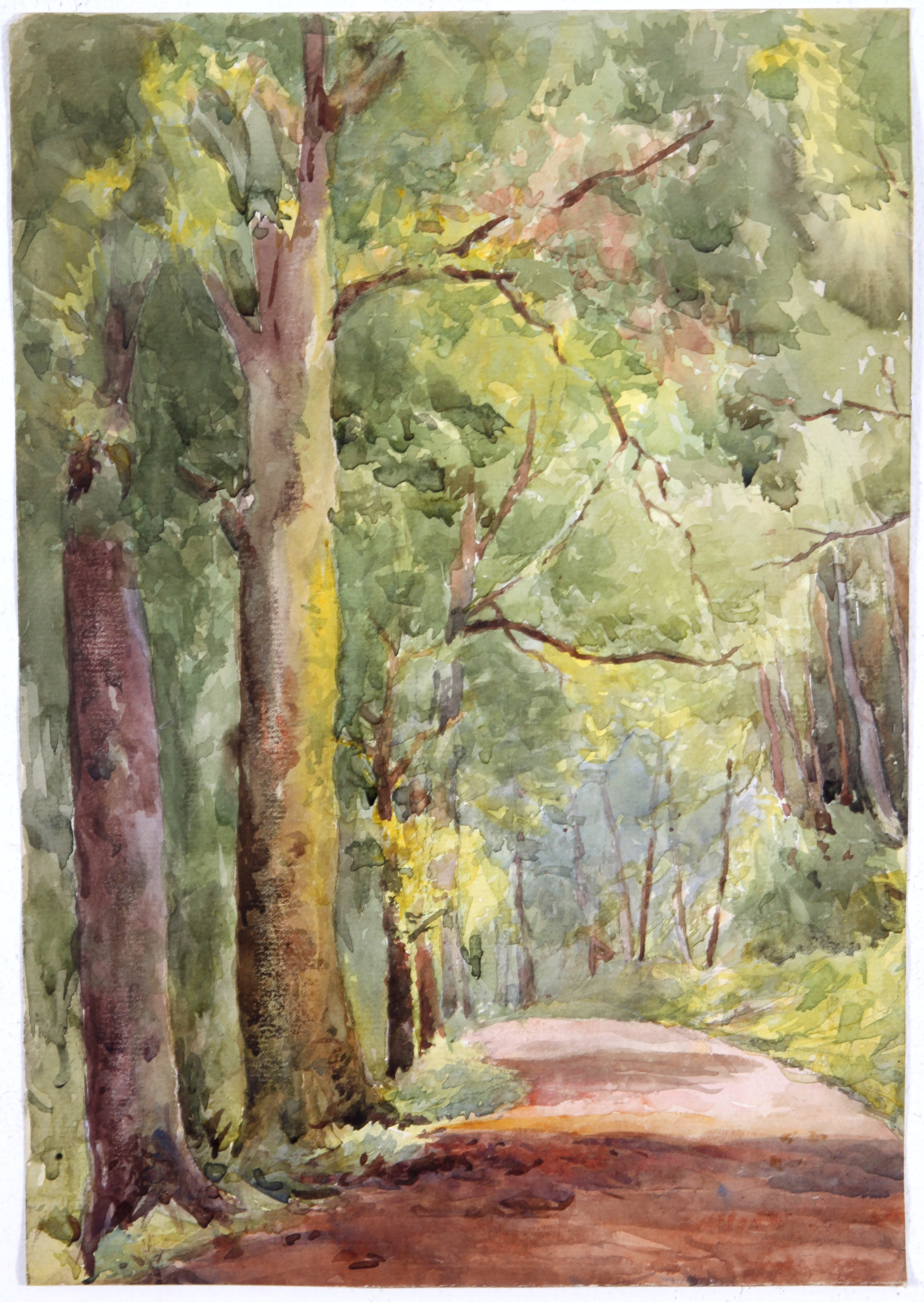 Early 20th Century Original Watercolor Painting