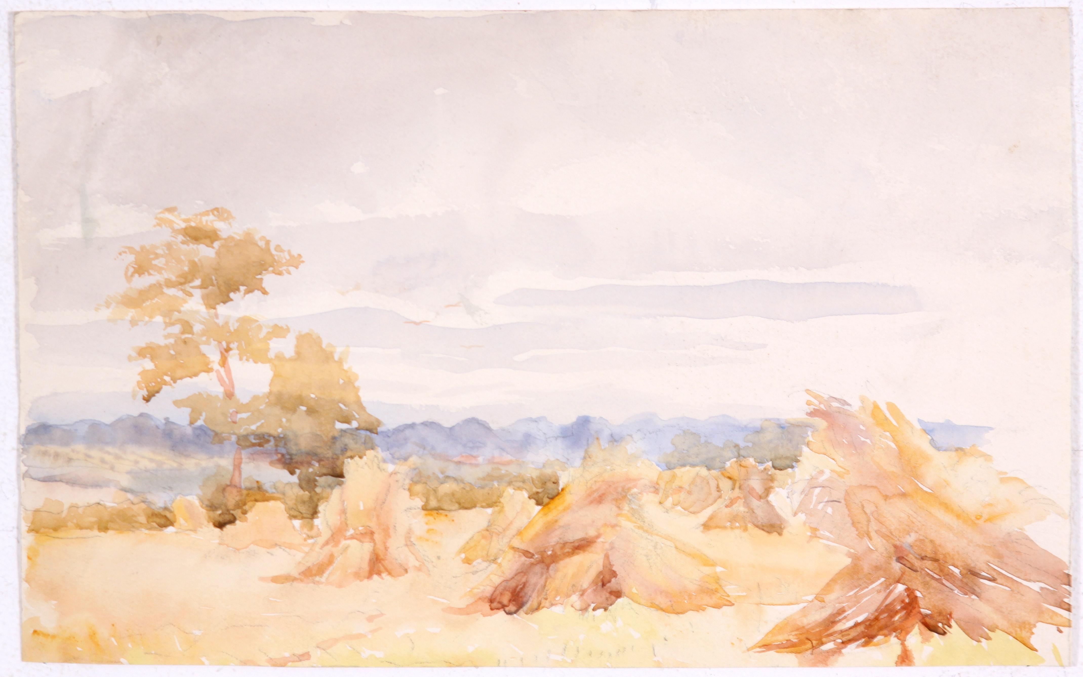 Original Early 20th Century Landscape in Watercolor