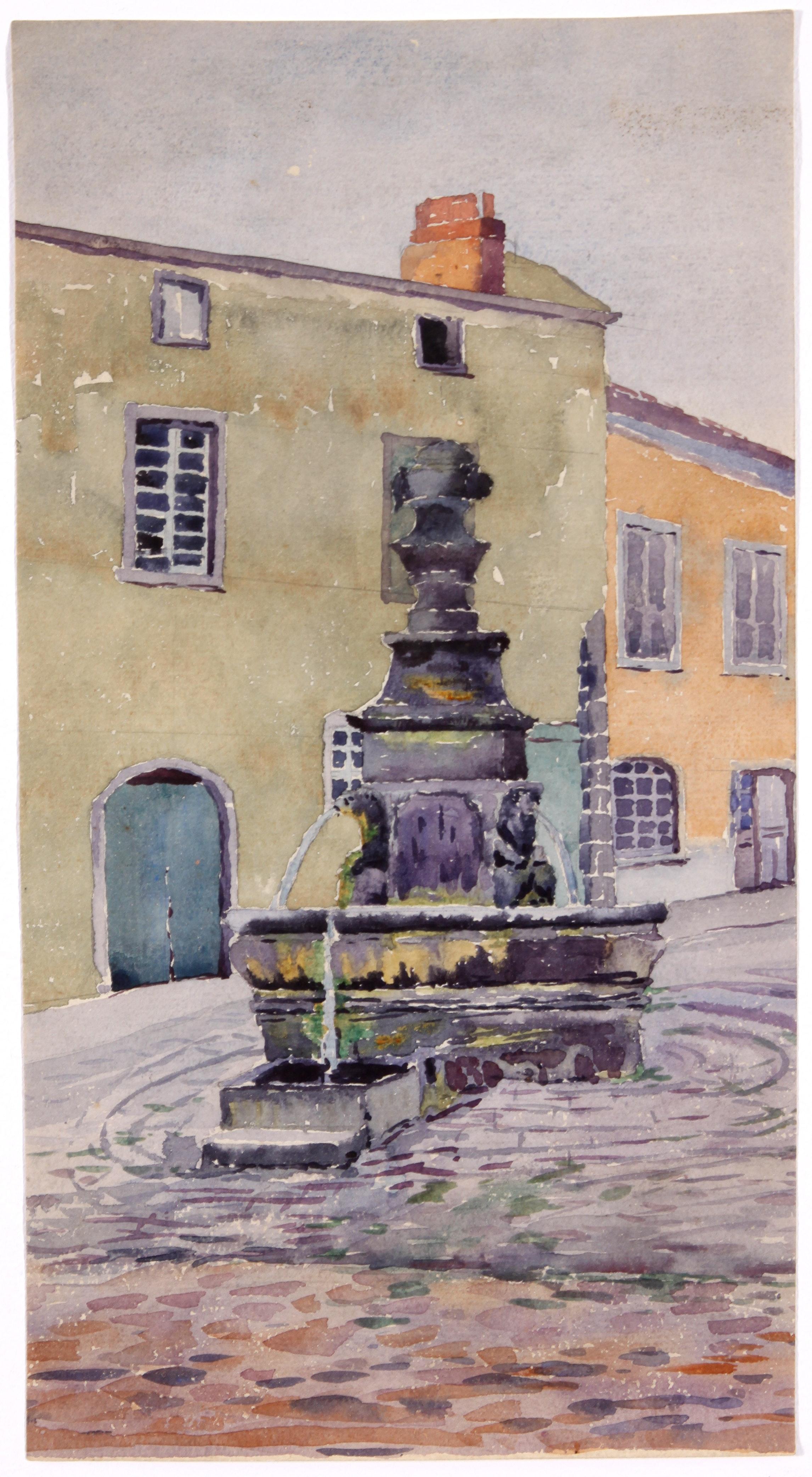 Original 20th Century European Watercolor Painting