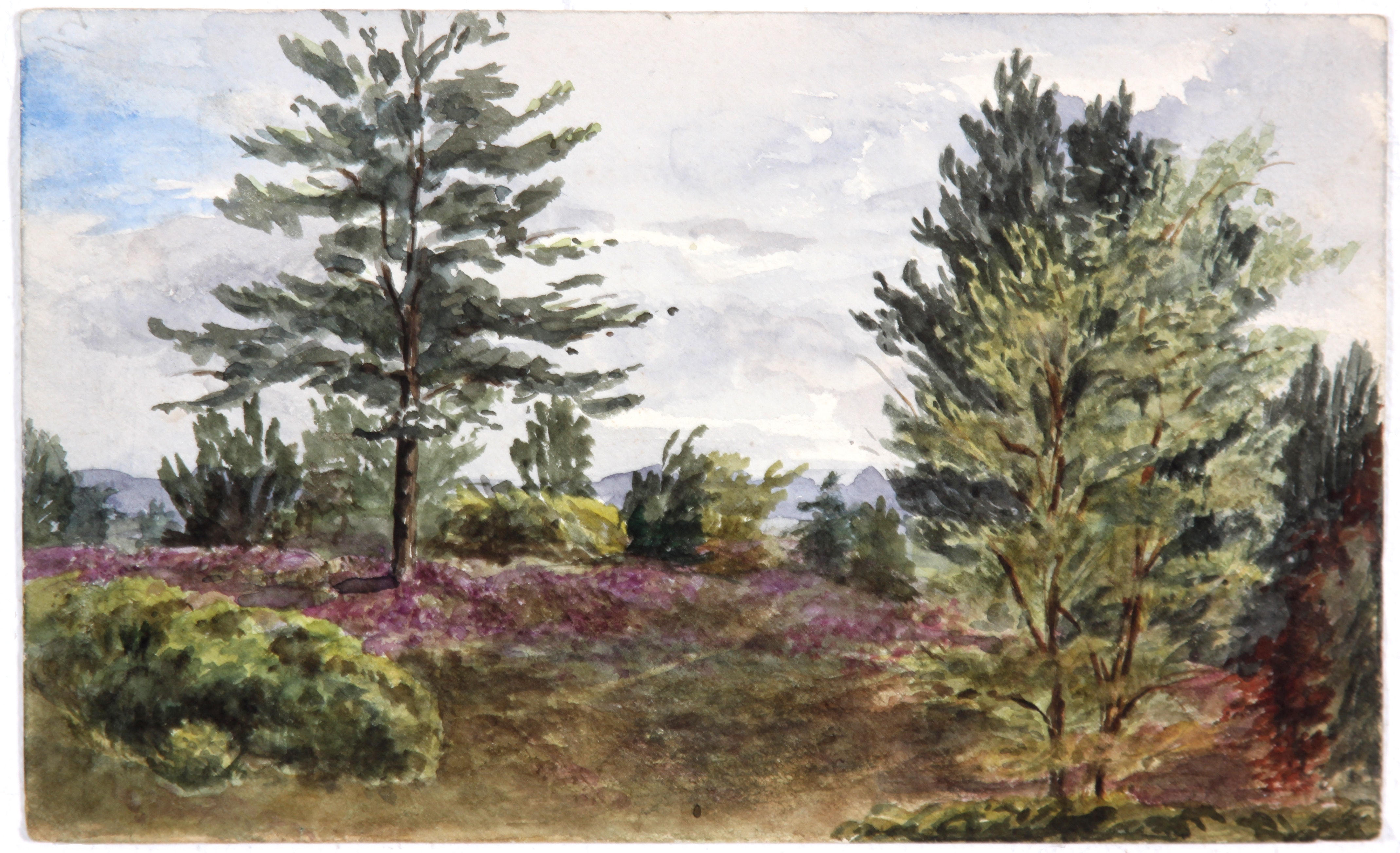 Early and Original Landscape in Watercolor