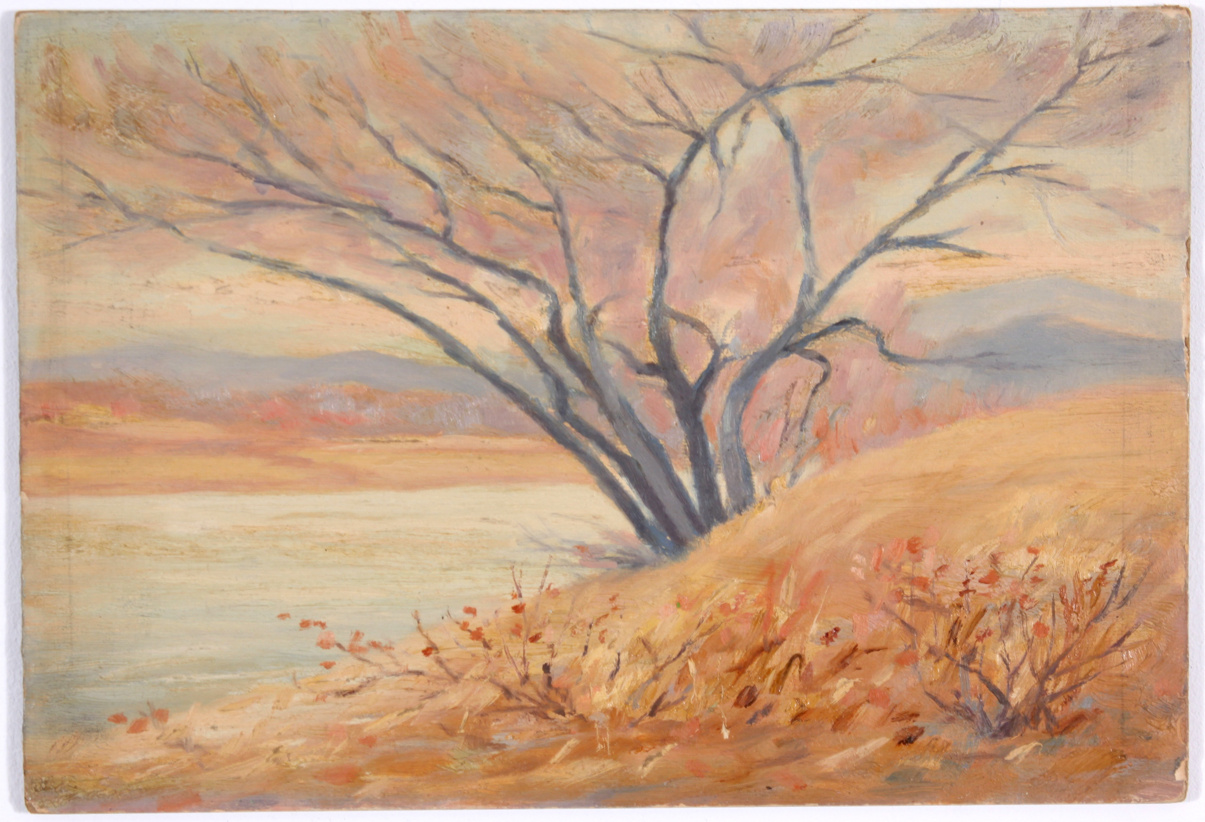 Original Fall Landscape Oil Painting from 1921