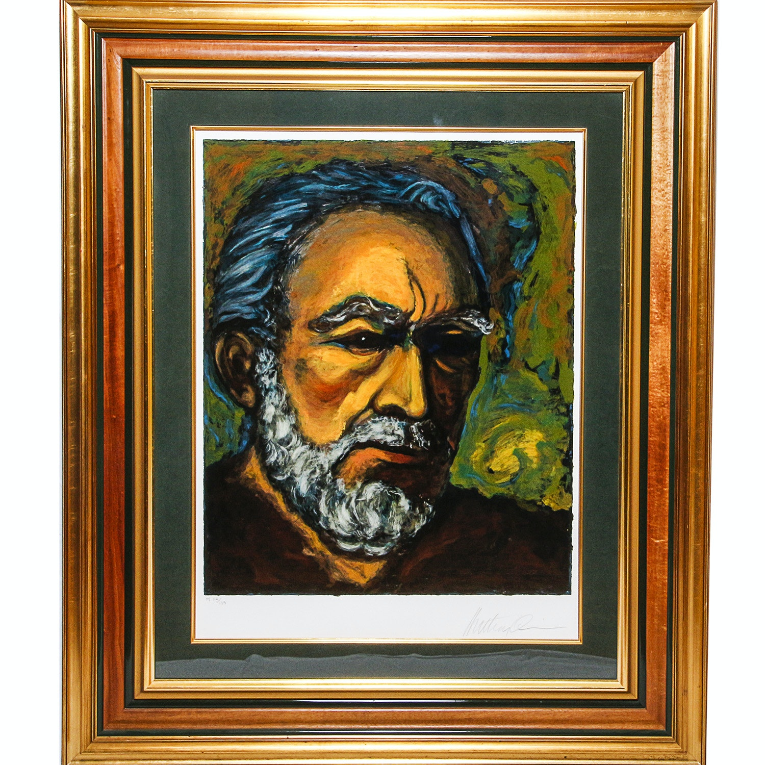 "Anthony Quinn Limited Edition Serigraph ""Zorba - A Self Portrait"""