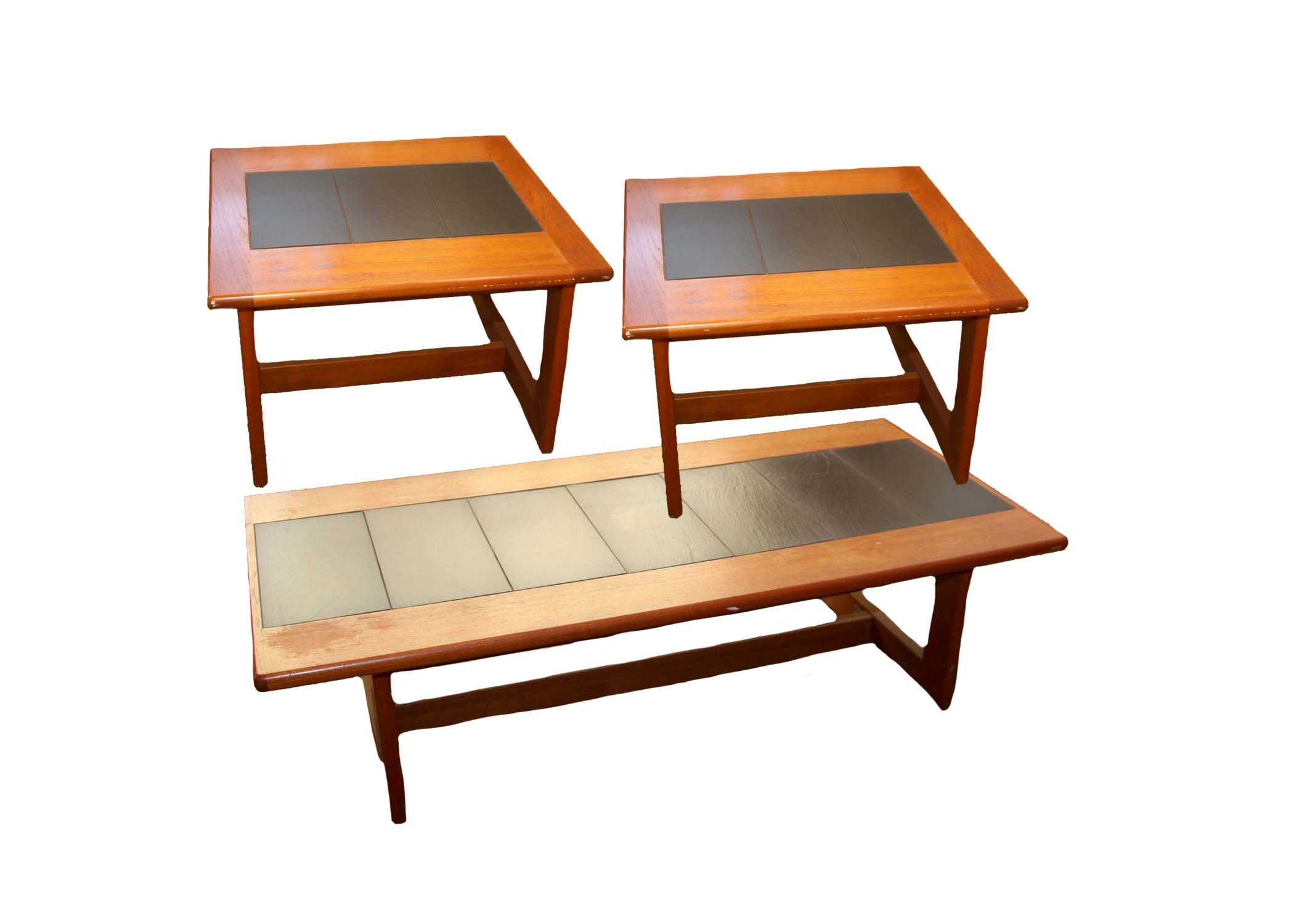 Contemporary End Tables and Coffee Table