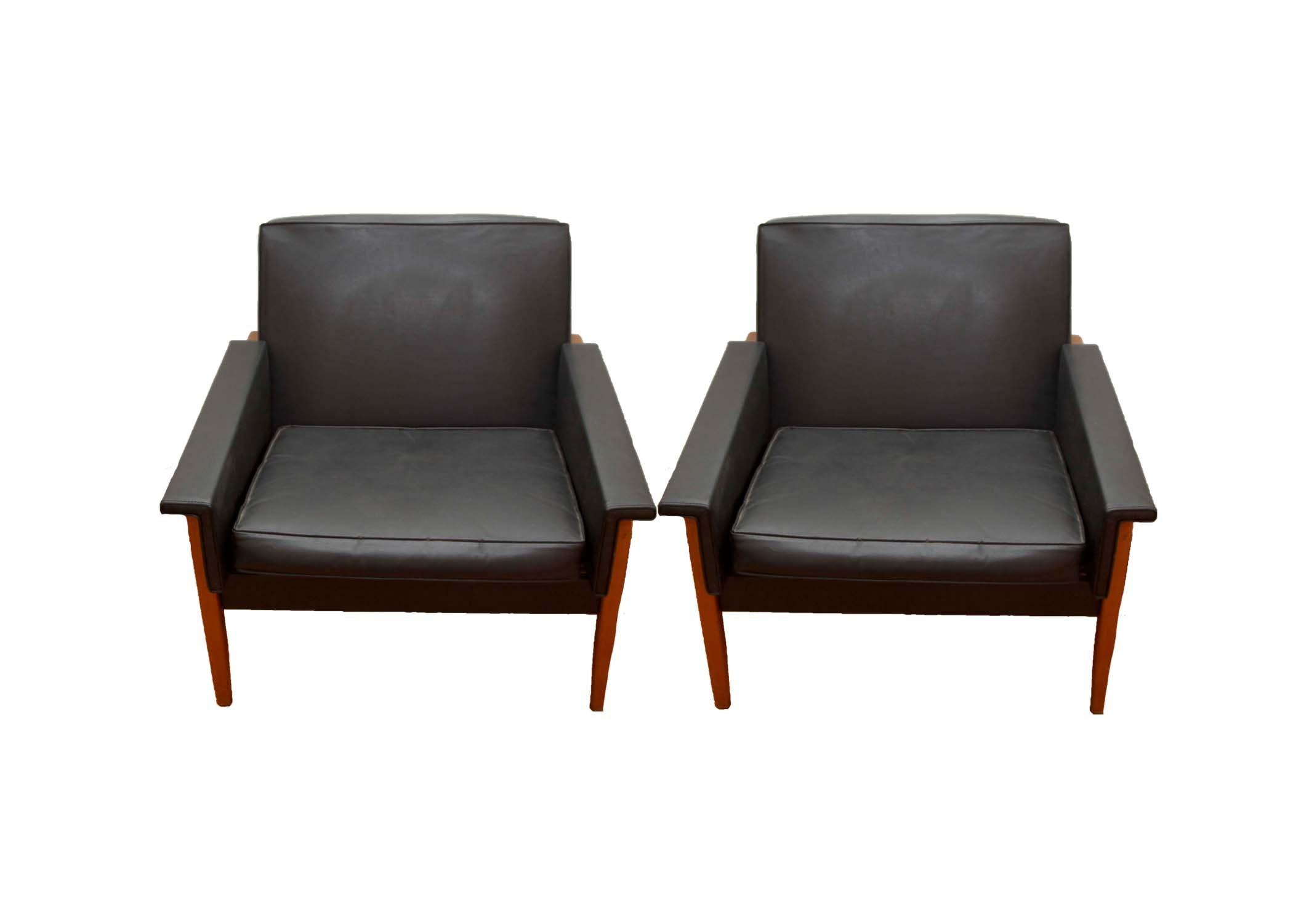 Pair of Mid- Century Modern Armchairs